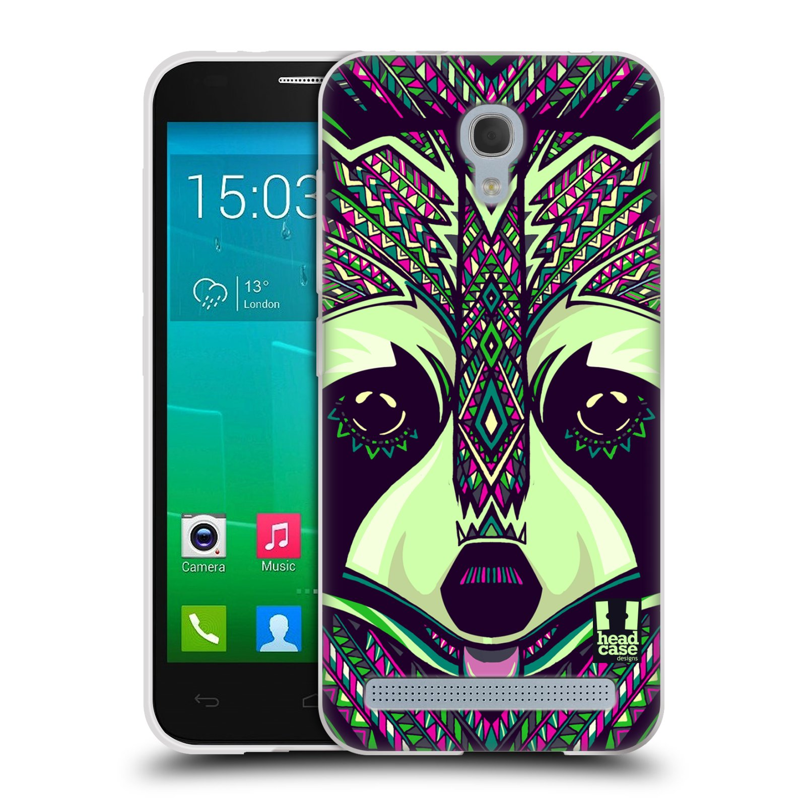 Silikonové pouzdro na mobil Alcatel One Touch Idol 2 Mini S 6036Y HEAD CASE AZTEC MÝVAL