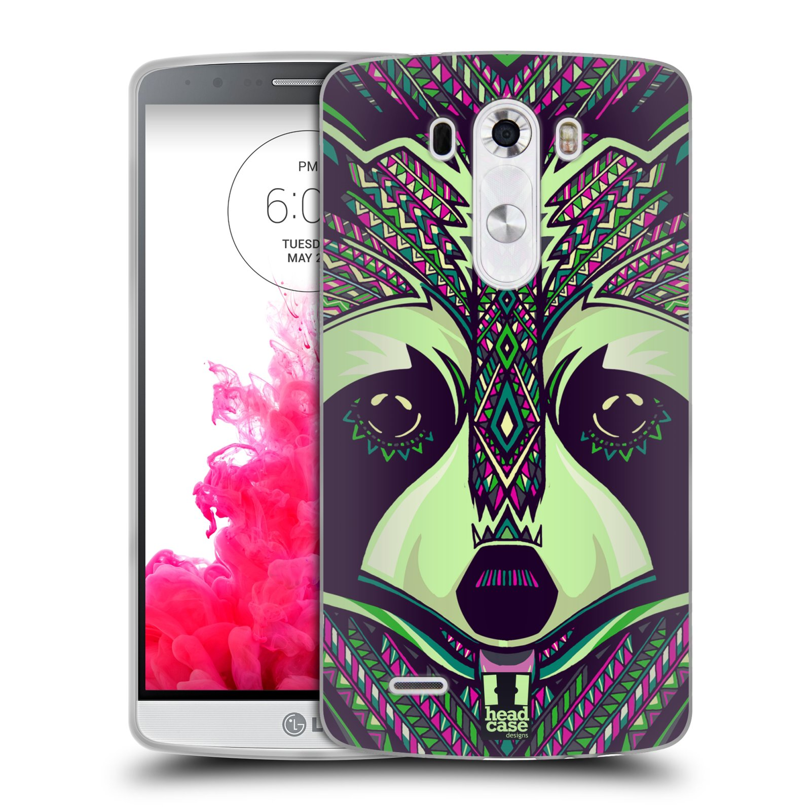 Silikonové pouzdro na mobil LG G3 HEAD CASE AZTEC MÝVAL (Silikonový kryt či obal na mobilní telefon LG G3 D855)