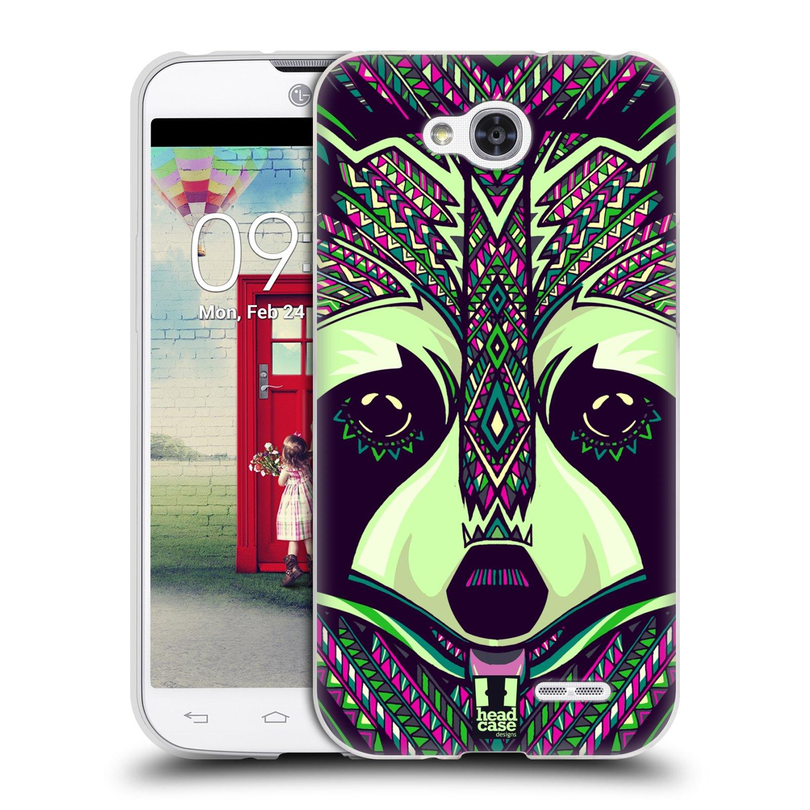 Silikonové pouzdro na mobil LG L90 HEAD CASE AZTEC MÝVAL (Silikonový kryt či obal na mobilní telefon LG L90 D405n)