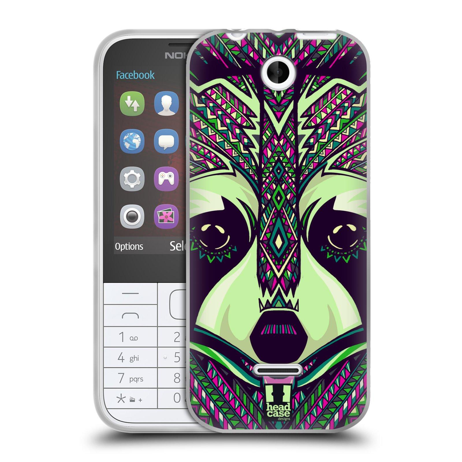 Silikonové pouzdro na mobil Nokia 225 HEAD CASE AZTEC MÝVAL (Silikonový kryt či obal na mobilní telefon Nokia 225)