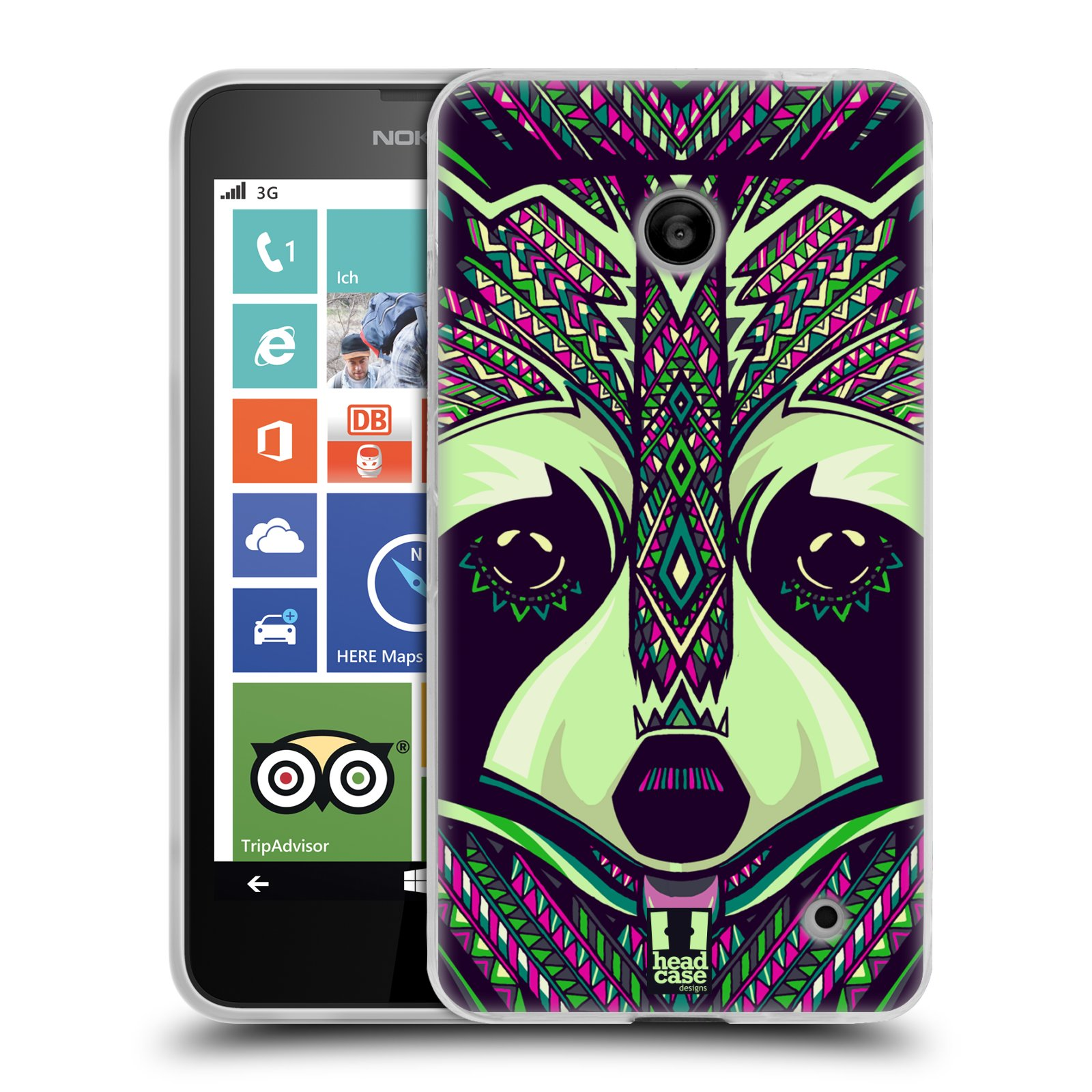 Silikonové pouzdro na mobil Nokia Lumia 630 HEAD CASE AZTEC MÝVAL (Silikonový kryt či obal na mobilní telefon Nokia Lumia 630 a Nokia Lumia 630 Dual SIM)