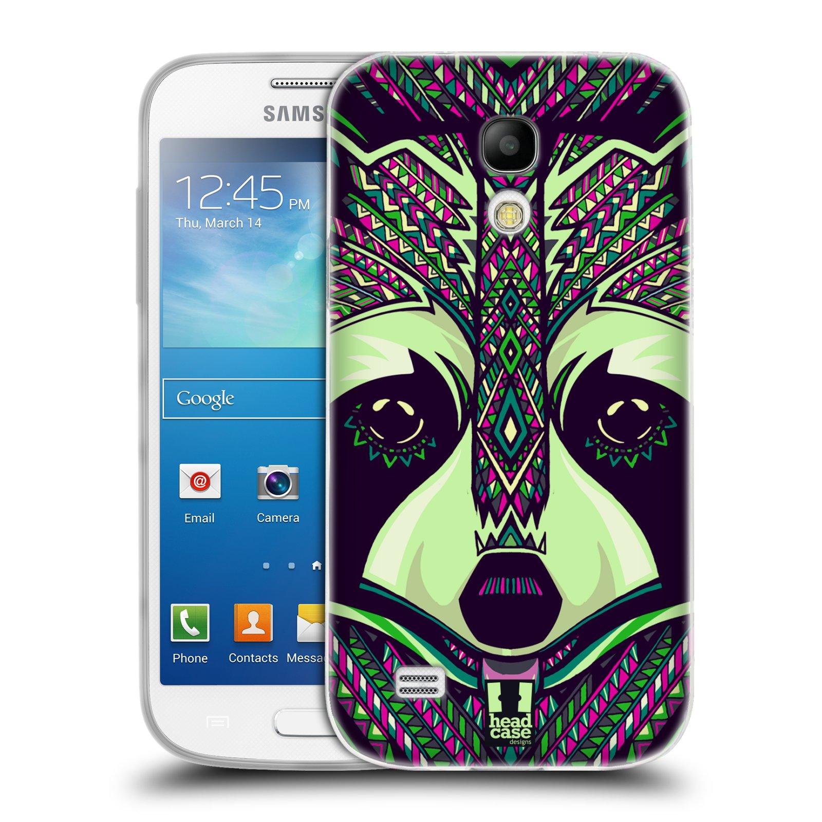Silikonové pouzdro na mobil Samsung Galaxy S4 Mini HEAD CASE AZTEC MÝVAL (Silikonový kryt či obal na mobilní telefon Samsung Galaxy S4 Mini GT-i9195 / i9190 (nepasuje na verzi Black Edition))