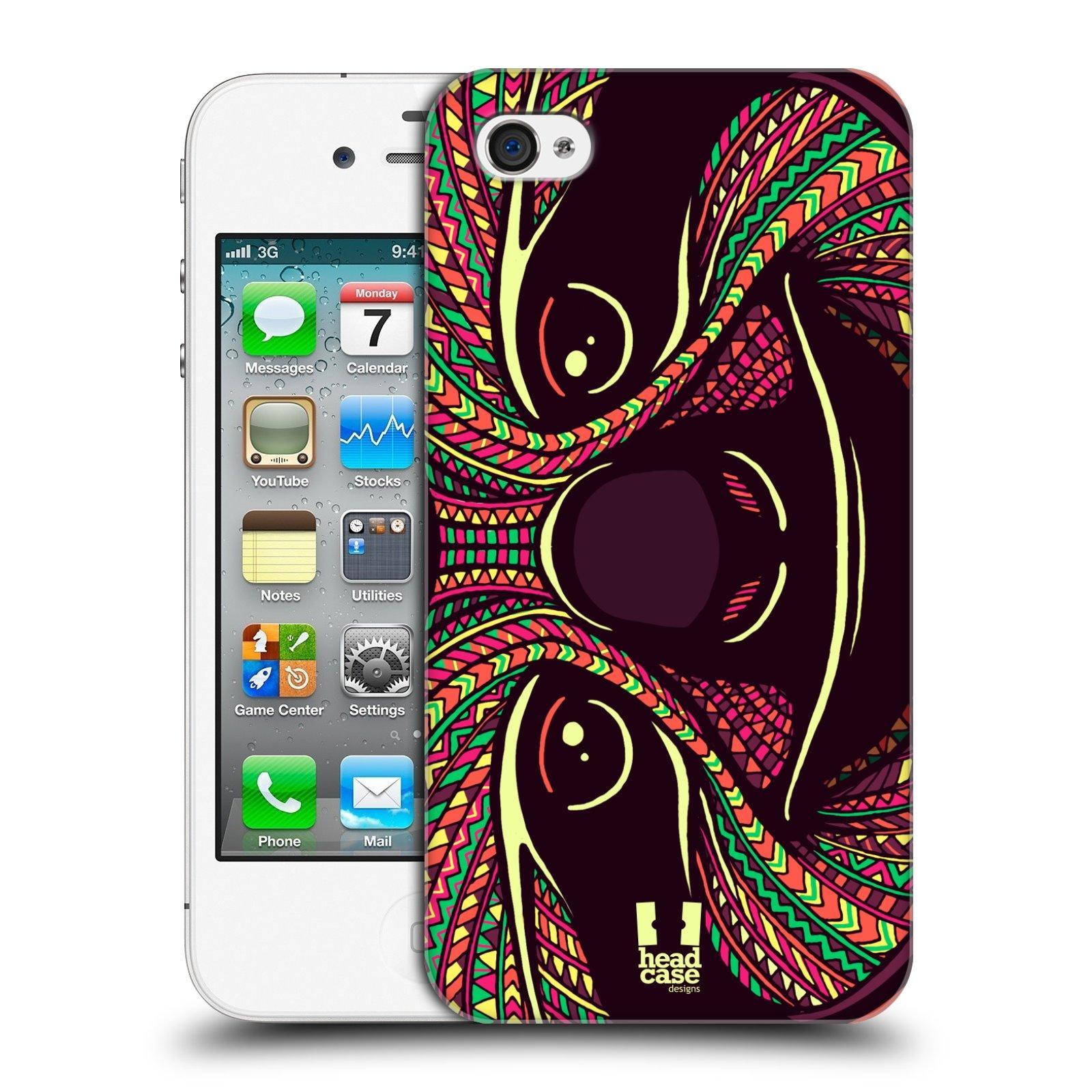 Plastové pouzdro na mobil Apple iPhone 4 a 4S HEAD CASE AZTEC LENOCHOD