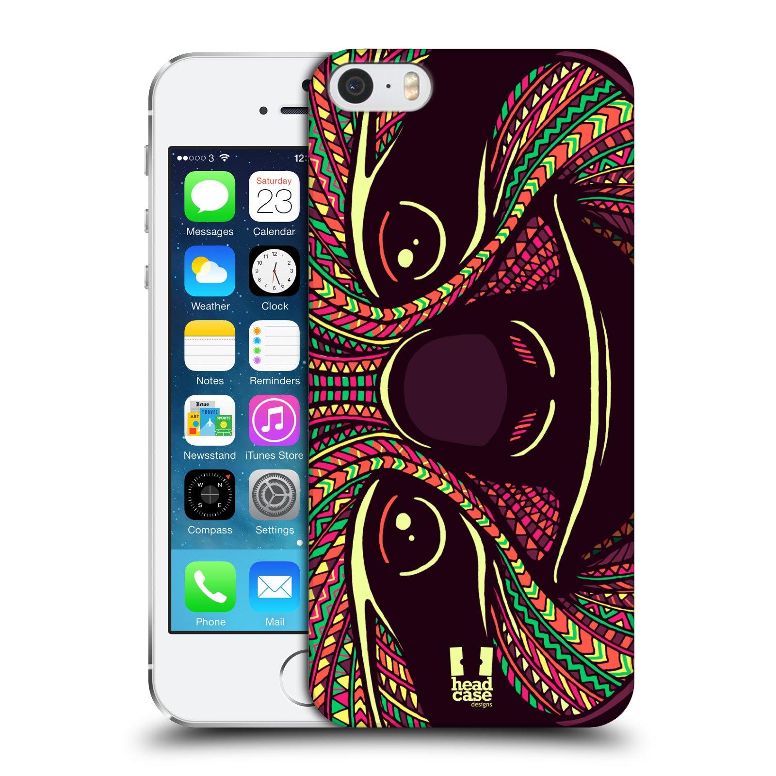 Plastové pouzdro na mobil Apple iPhone SE, 5 a 5S HEAD CASE AZTEC LENOCHOD