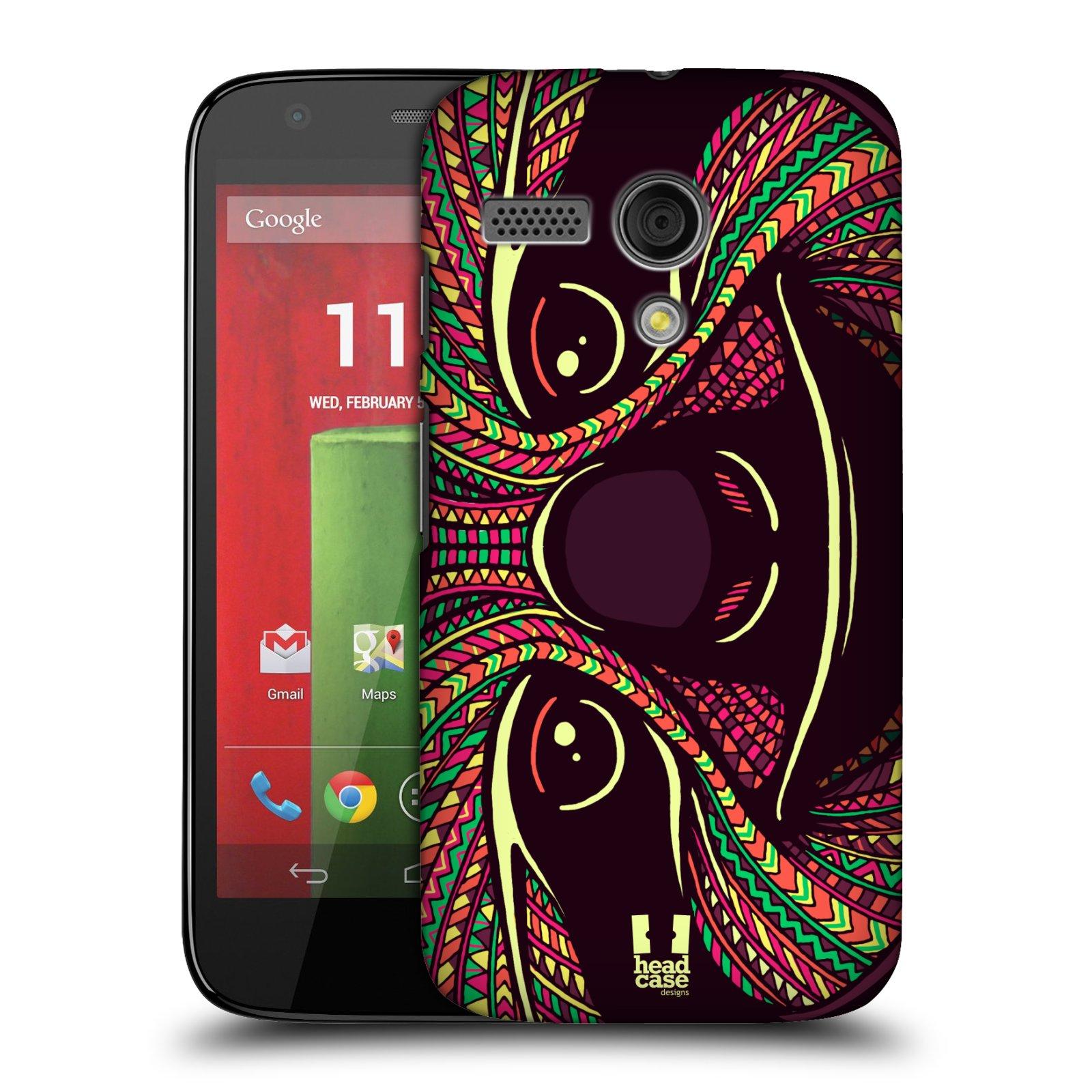 Plastové pouzdro na mobil Motorola Moto G HEAD CASE AZTEC LENOCHOD (Kryt či obal na mobilní telefon Motorola Moto G)