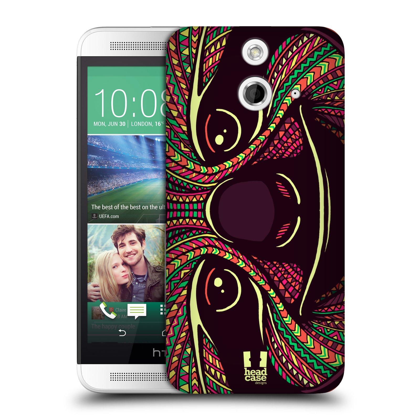 Plastové pouzdro na mobil HTC ONE E8 HEAD CASE AZTEC LENOCHOD (Kryt či obal na mobilní telefon HTC ONE E8)