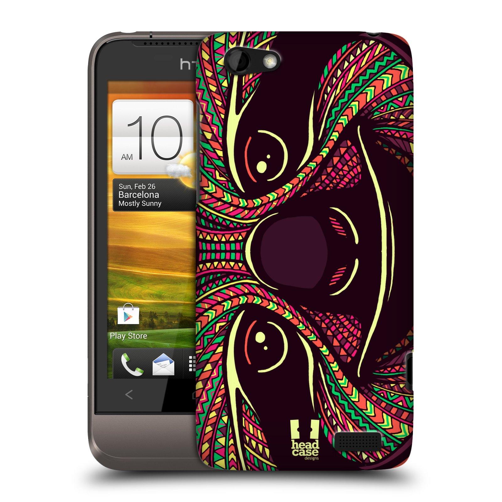 Plastové pouzdro na mobil HTC ONE V HEAD CASE AZTEC LENOCHOD (Kryt či obal na mobilní telefon HTC ONE V)