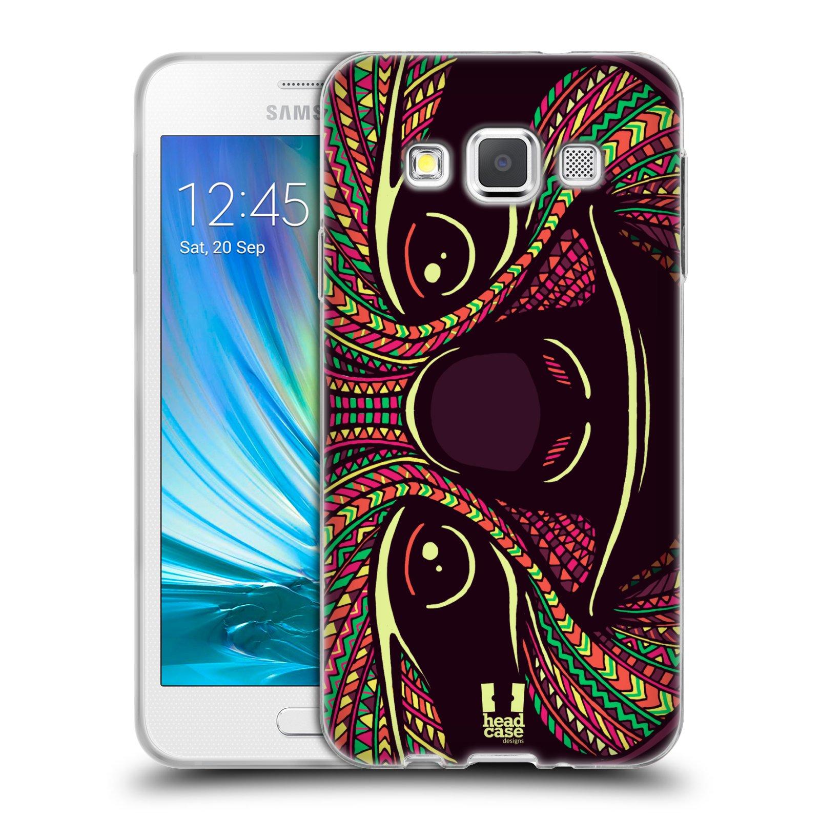 Silikonové pouzdro na mobil Samsung Galaxy A3 HEAD CASE AZTEC LENOCHOD (Silikonový kryt či obal na mobilní telefon Samsung Galaxy A3 SM-A300)