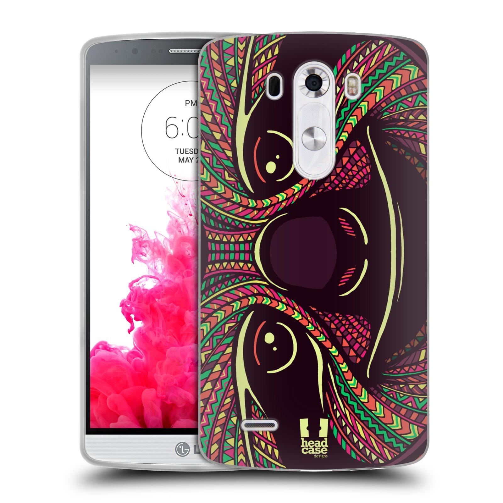 Silikonové pouzdro na mobil LG G3 HEAD CASE AZTEC LENOCHOD (Silikonový kryt či obal na mobilní telefon LG G3 D855)
