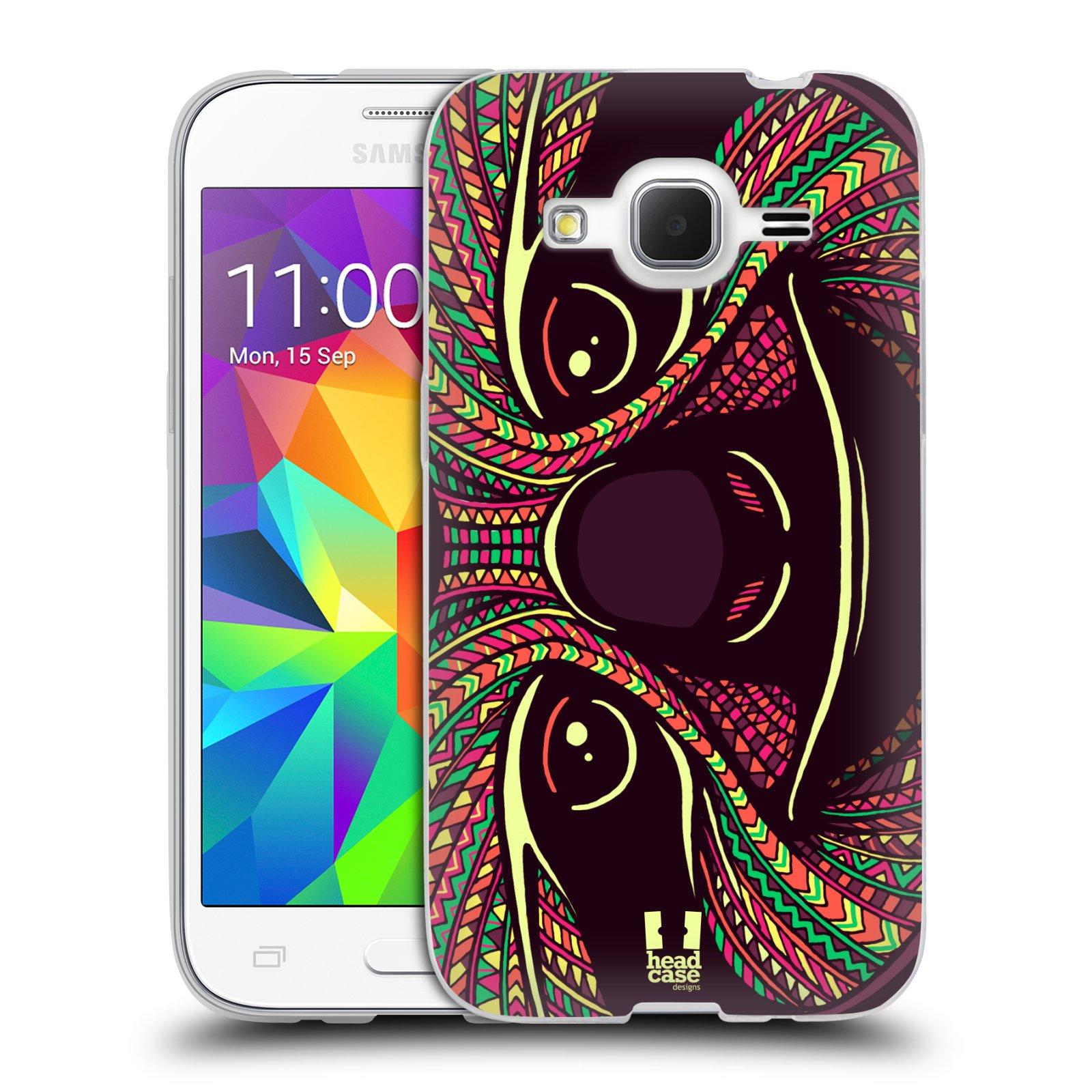 Silikonové pouzdro na mobil Samsung Galaxy Core Prime LTE HEAD CASE AZTEC LENOCHOD (Silikonový kryt či obal na mobilní telefon Samsung Galaxy Core Prime LTE SM-G360)
