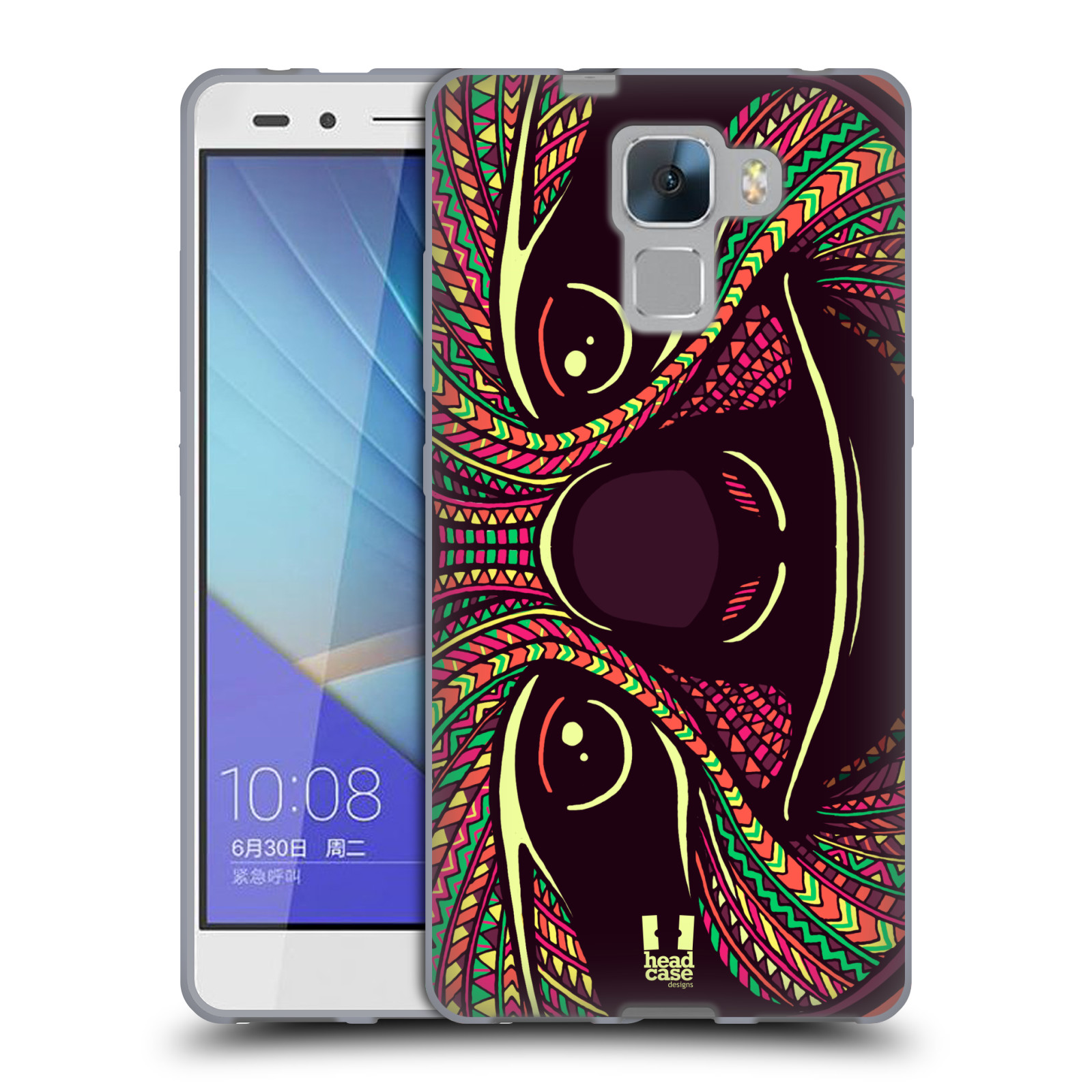 Silikonové pouzdro na mobil Honor 7 HEAD CASE AZTEC LENOCHOD