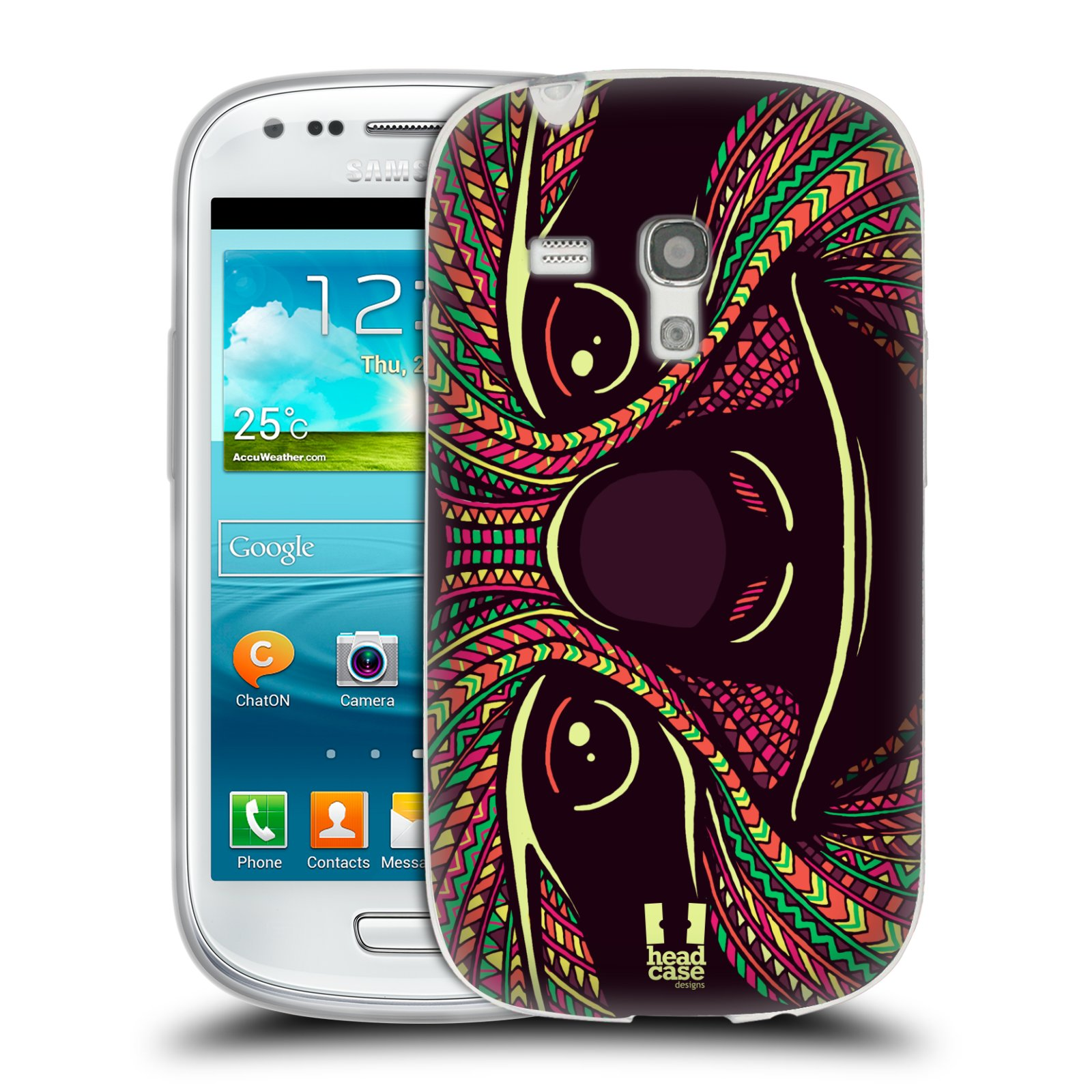 Silikonové pouzdro na mobil Samsung Galaxy S III Mini HEAD CASE AZTEC LENOCHOD (Silikonový kryt či obal na mobilní telefon Samsung Galaxy S III Mini GT-i8190)