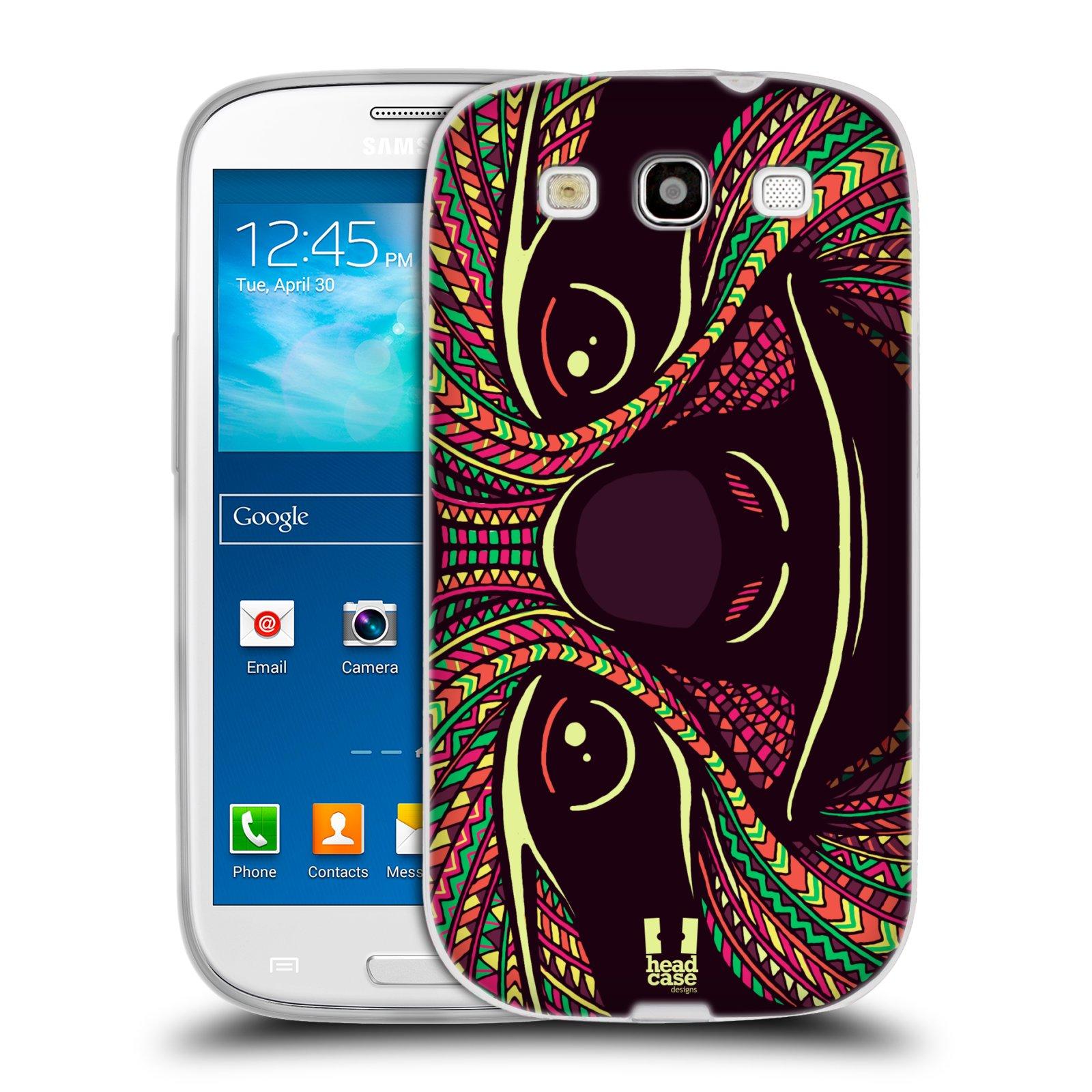 Silikonové pouzdro na mobil Samsung Galaxy S3 Neo HEAD CASE AZTEC LENOCHOD (Silikonový kryt či obal na mobilní telefon Samsung Galaxy S3 Neo GT-i9301i)
