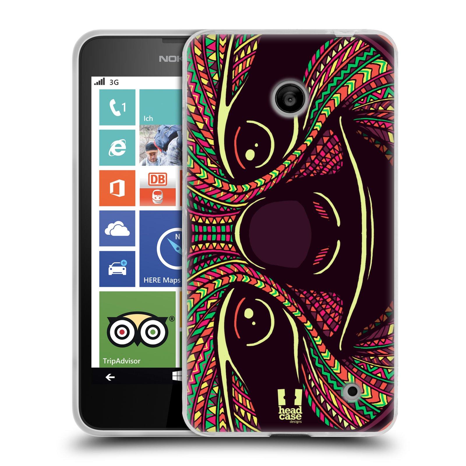 Silikonové pouzdro na mobil Nokia Lumia 630 HEAD CASE AZTEC LENOCHOD (Silikonový kryt či obal na mobilní telefon Nokia Lumia 630 a Nokia Lumia 630 Dual SIM)