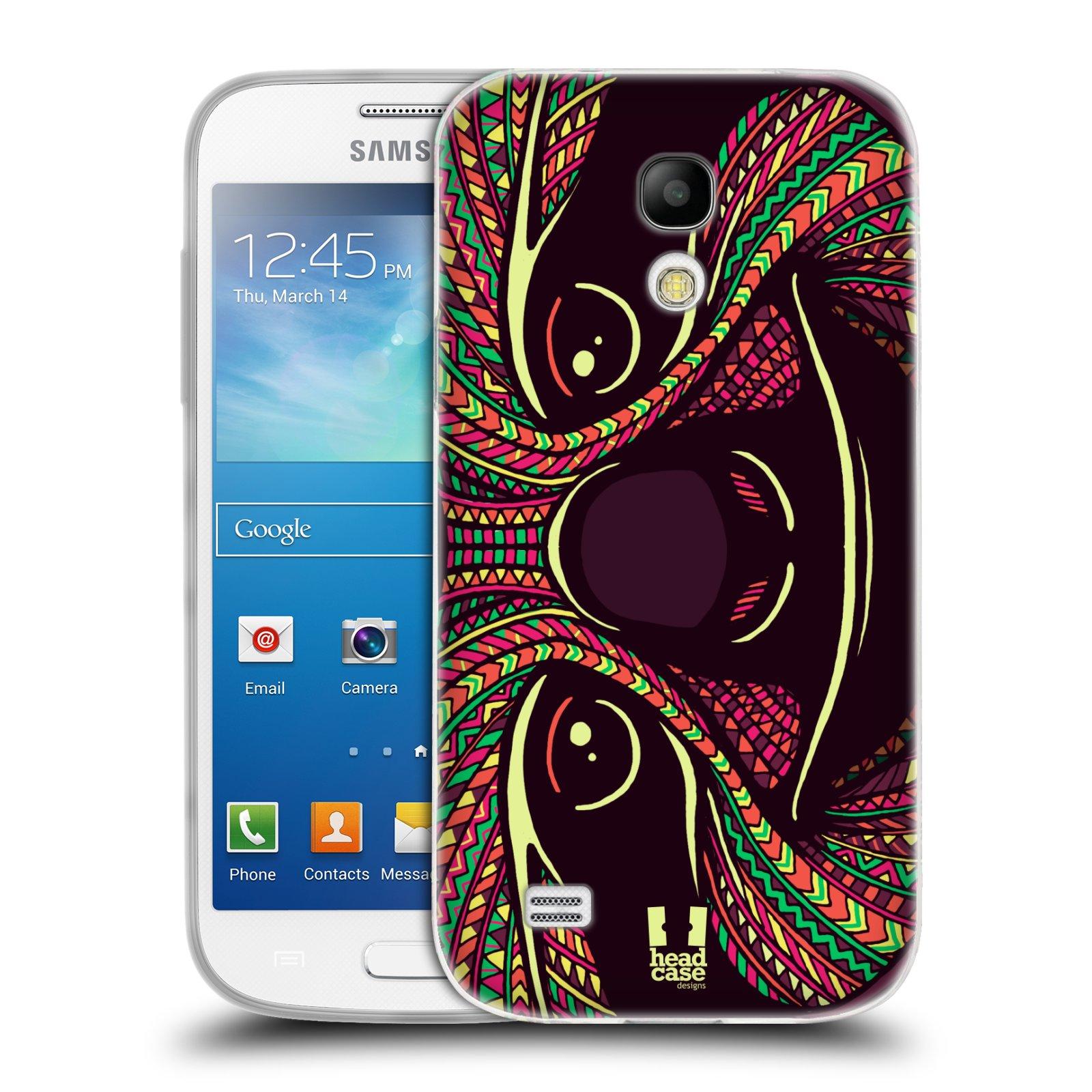 Silikonové pouzdro na mobil Samsung Galaxy S4 Mini HEAD CASE AZTEC LENOCHOD (Silikonový kryt či obal na mobilní telefon Samsung Galaxy S4 Mini GT-i9195 / i9190 (nepasuje na verzi Black Edition))