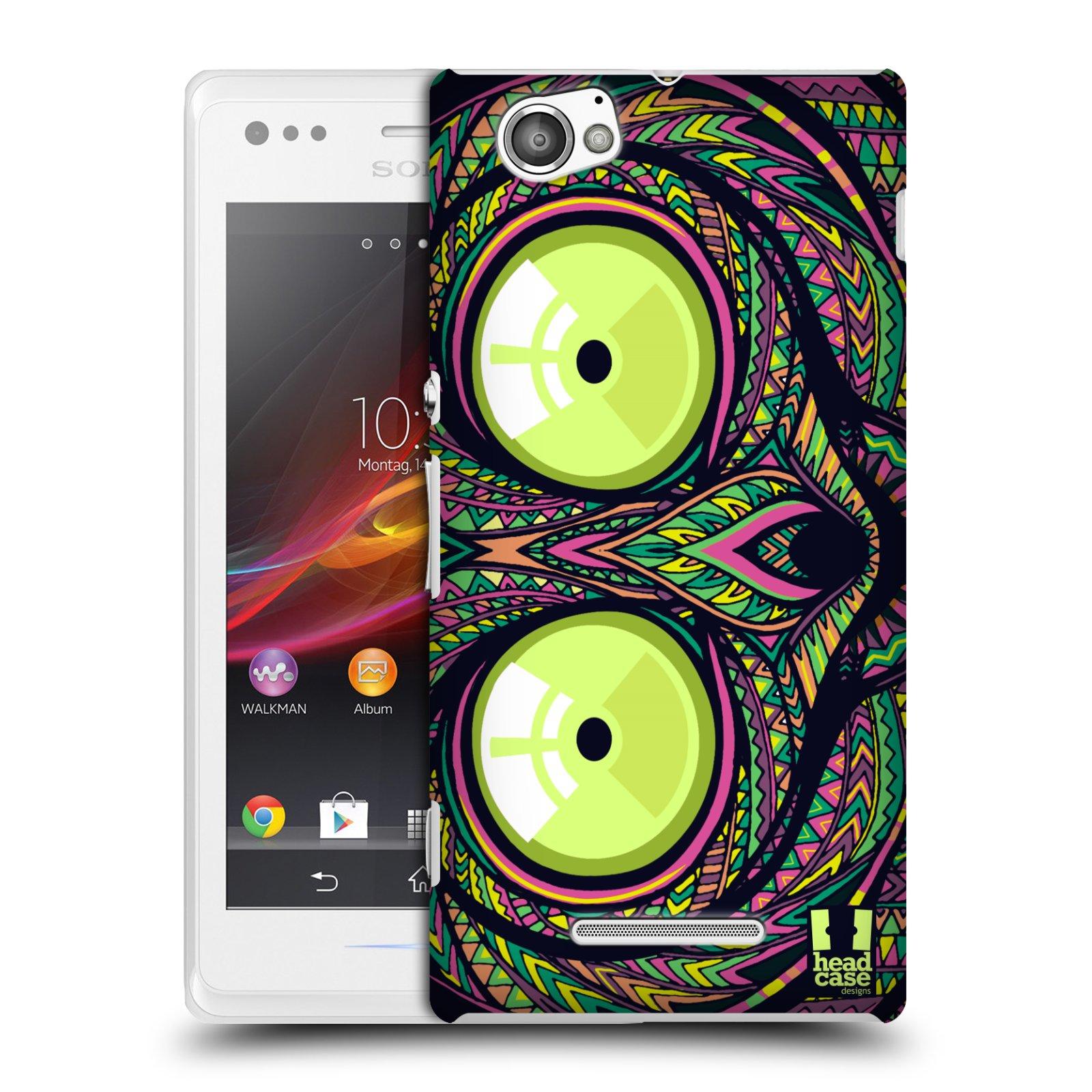 Plastové pouzdro na mobil Sony Xperia M C1905 HEAD CASE AZTEC NÁRTOUN