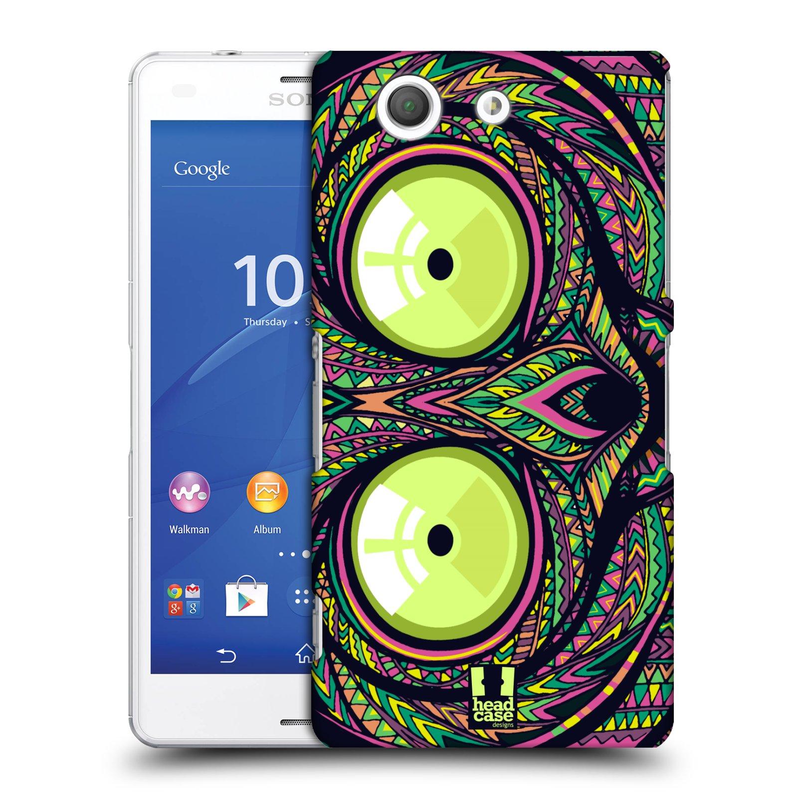 Plastové pouzdro na mobil Sony Xperia Z3 Compact D5803 HEAD CASE AZTEC NÁRTOUN