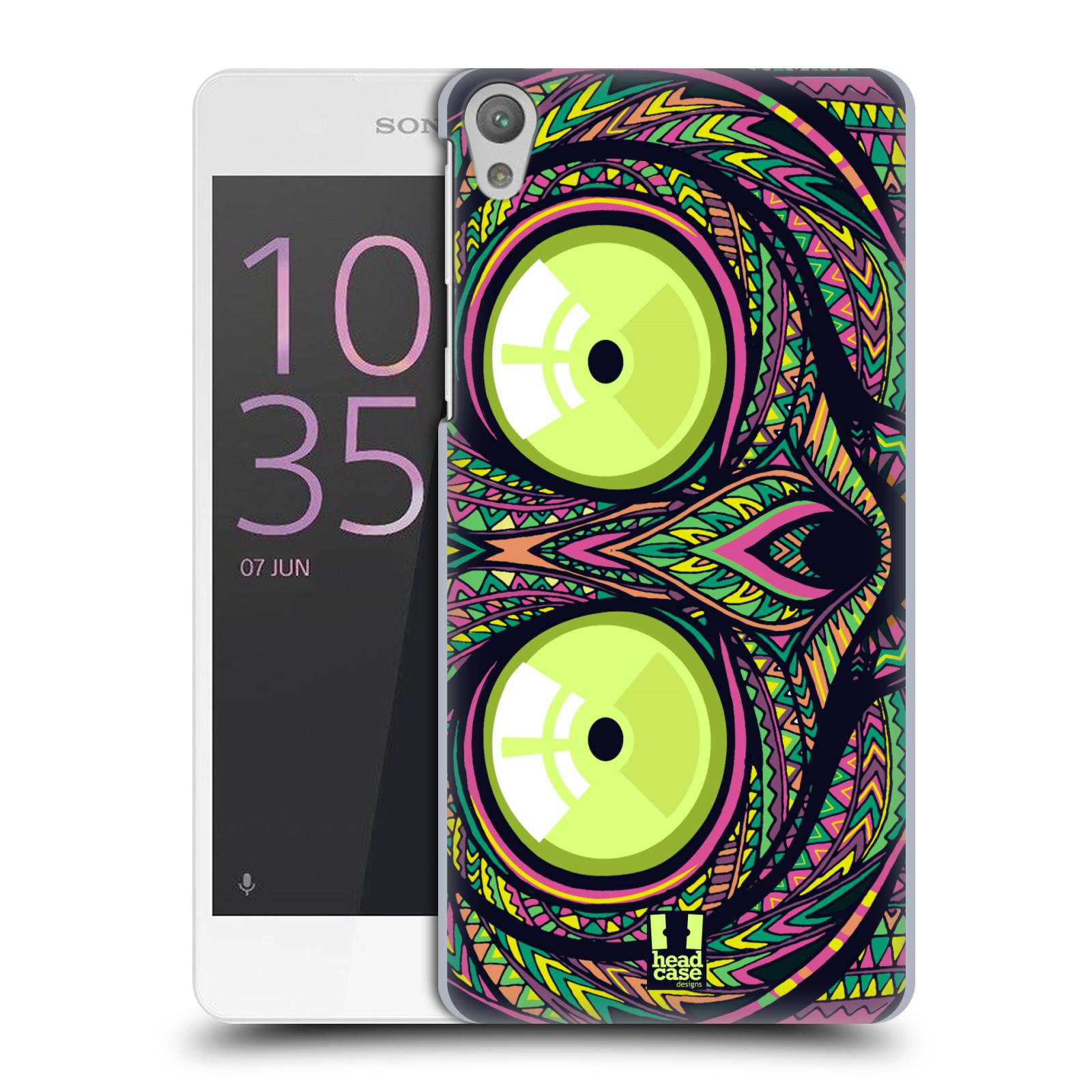 Plastové pouzdro na mobil Sony Xperia E5 HEAD CASE AZTEC NÁRTOUN