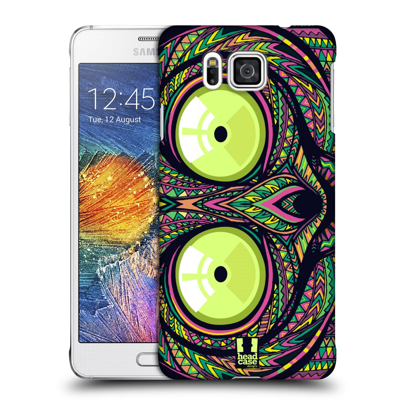 Plastové pouzdro na mobil Samsung Galaxy Alpha HEAD CASE AZTEC NÁRTOUN