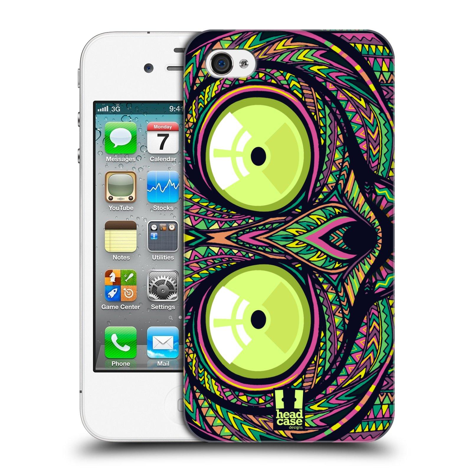 Plastové pouzdro na mobil Apple iPhone 4 a 4S HEAD CASE AZTEC NÁRTOUN