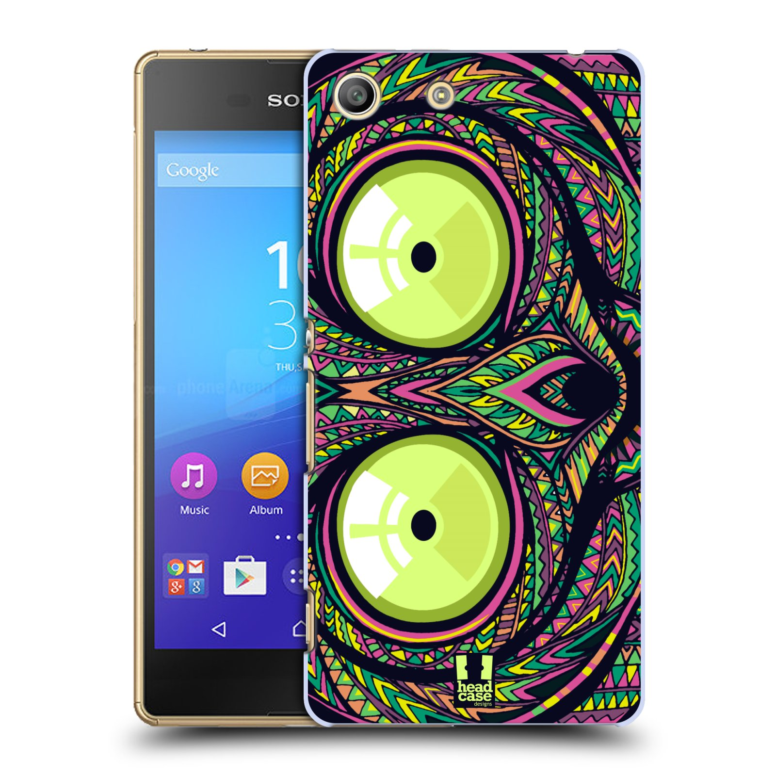 Plastové pouzdro na mobil Sony Xperia M5 HEAD CASE AZTEC NÁRTOUN
