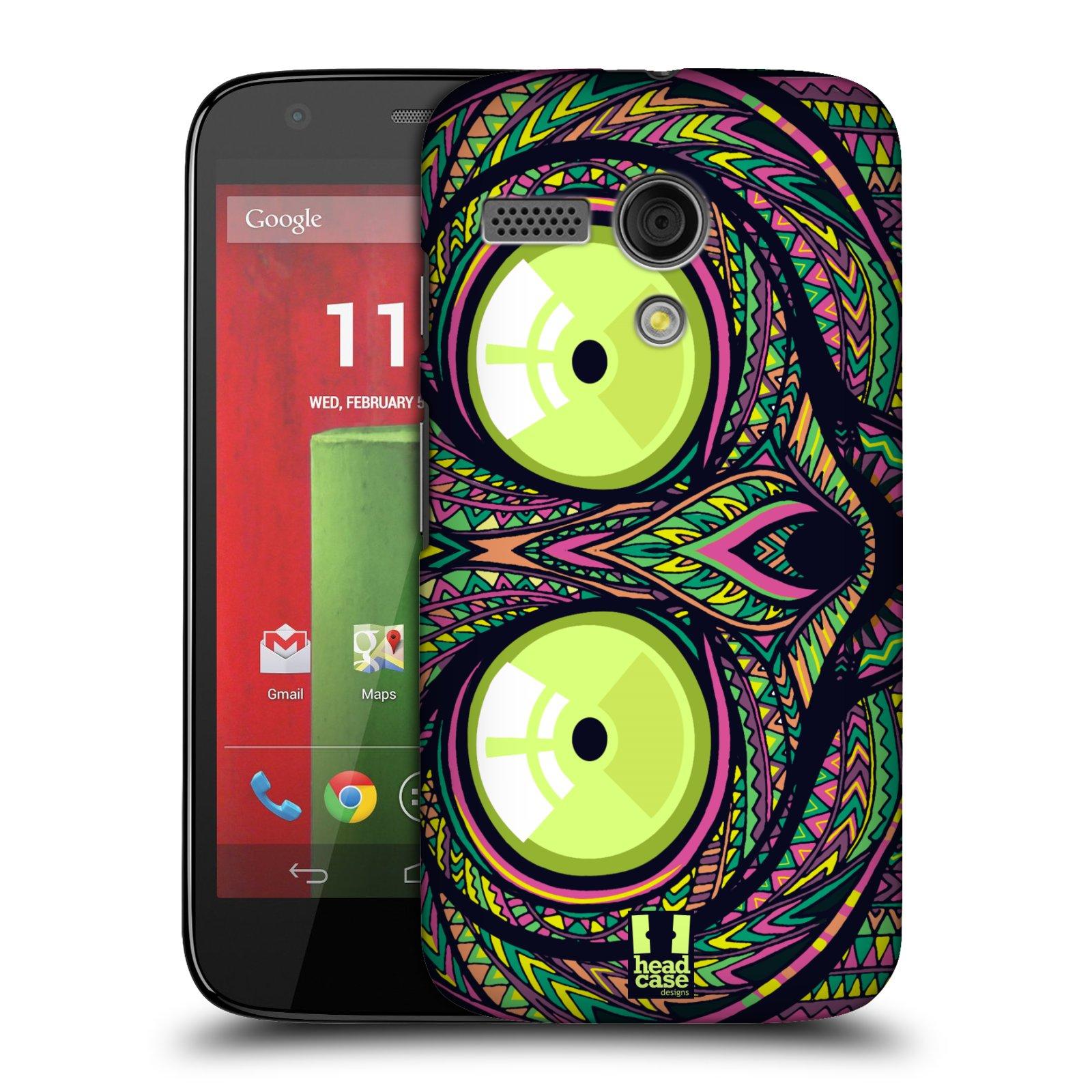 Plastové pouzdro na mobil Motorola Moto G HEAD CASE AZTEC NÁRTOUN (Kryt či obal na mobilní telefon Motorola Moto G)
