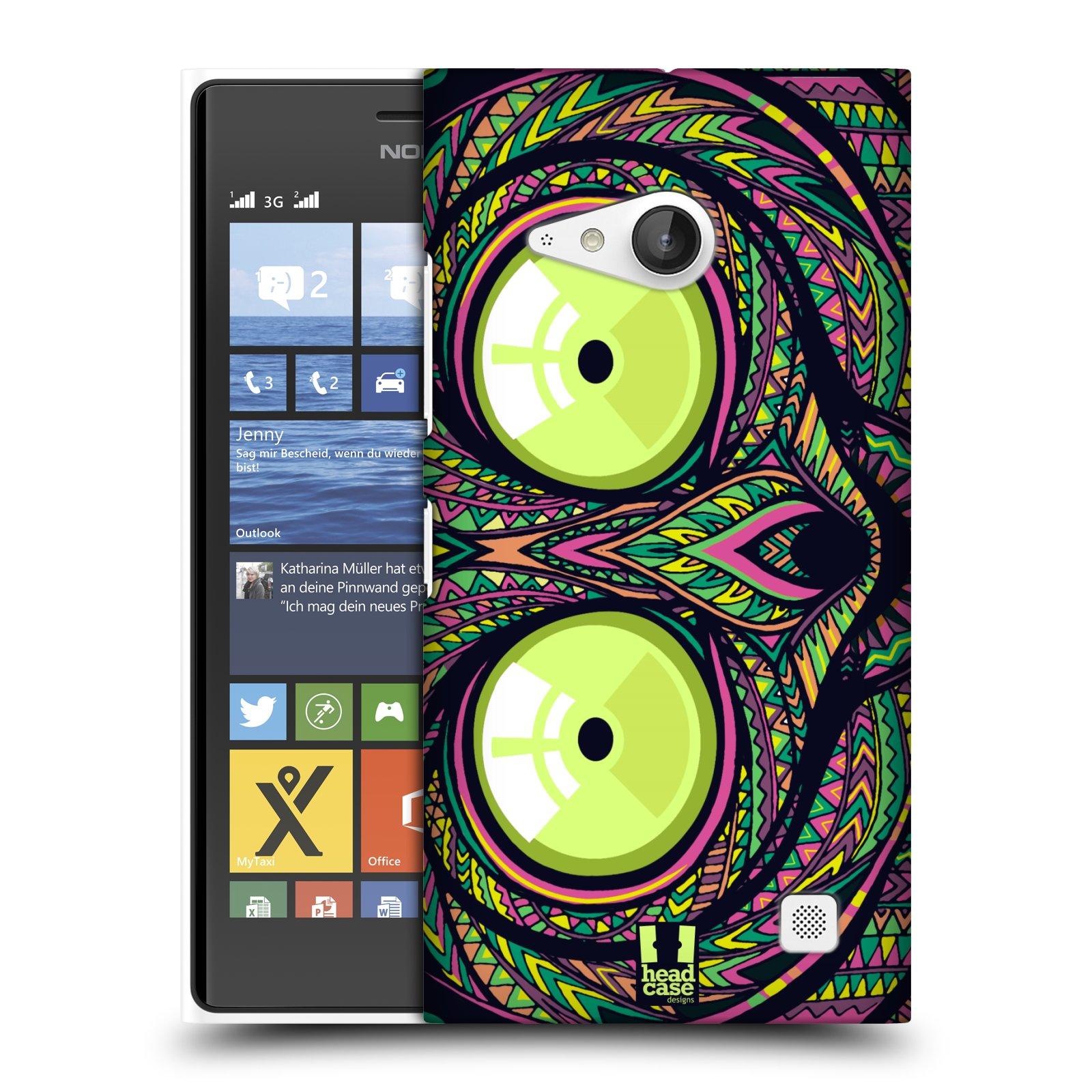 Plastové pouzdro na mobil Nokia Lumia 735 HEAD CASE AZTEC NÁRTOUN