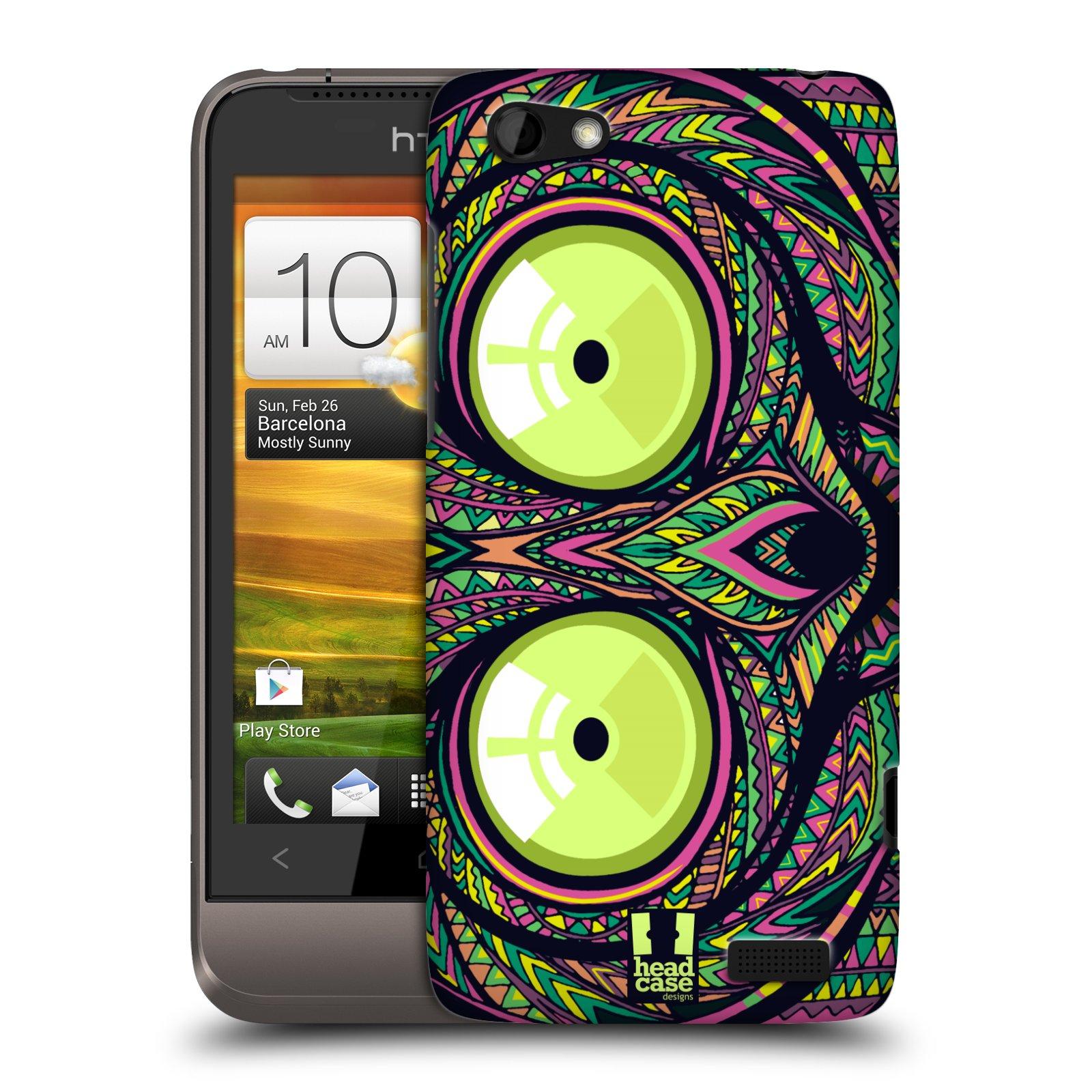 Plastové pouzdro na mobil HTC ONE V HEAD CASE AZTEC NÁRTOUN (Kryt či obal na mobilní telefon HTC ONE V)