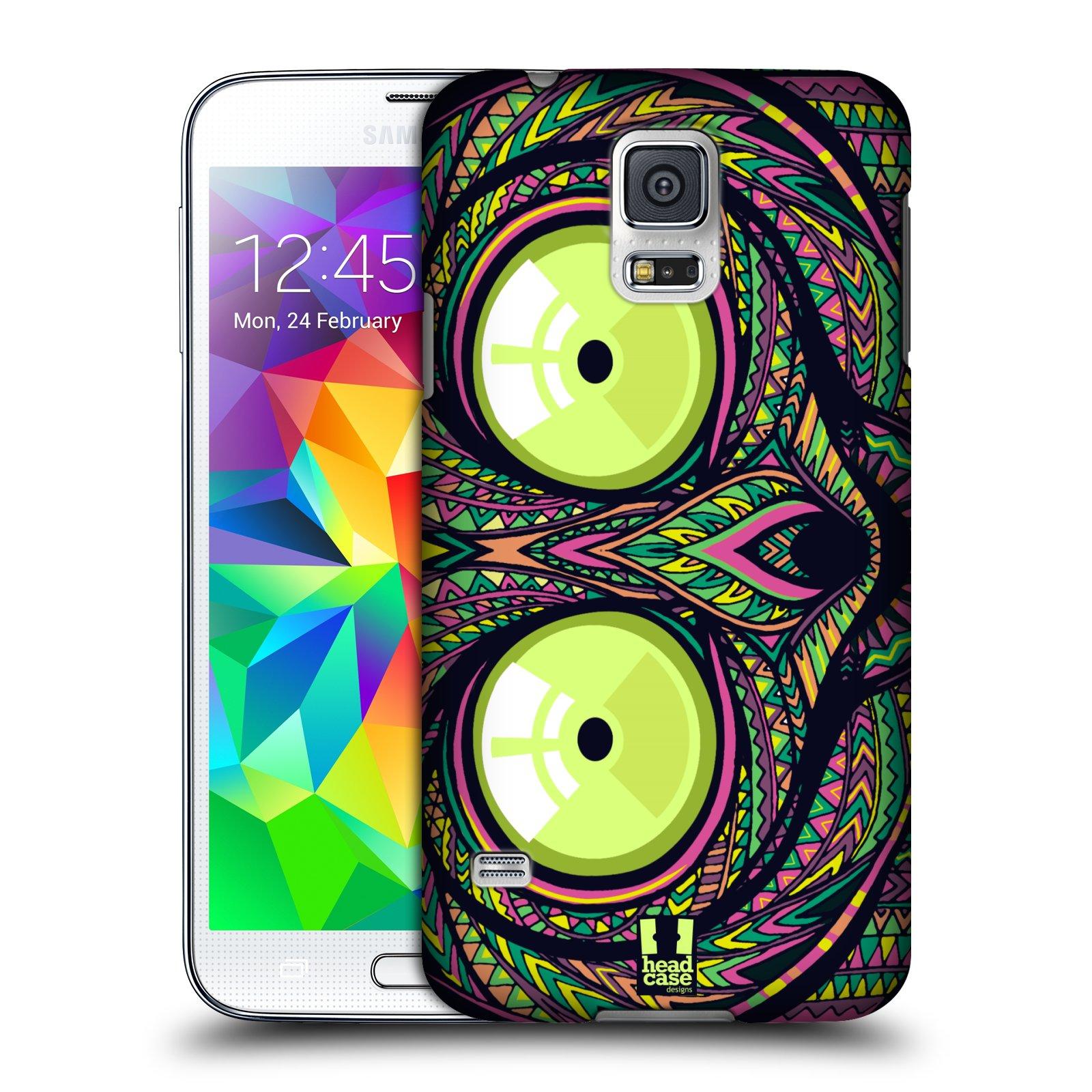 Plastové pouzdro na mobil Samsung Galaxy S5 HEAD CASE AZTEC NÁRTOUN