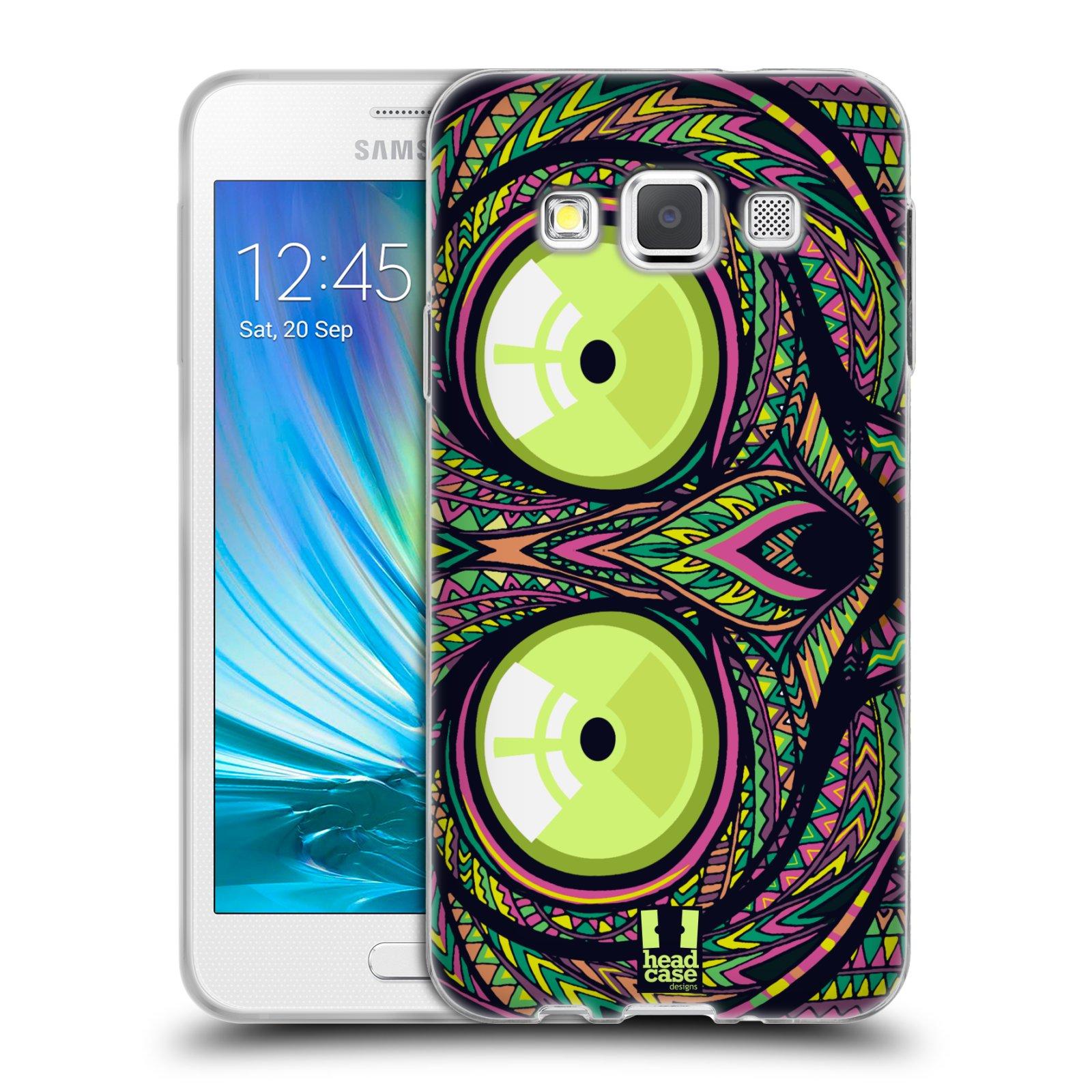 Silikonové pouzdro na mobil Samsung Galaxy A3 HEAD CASE AZTEC NÁRTOUN