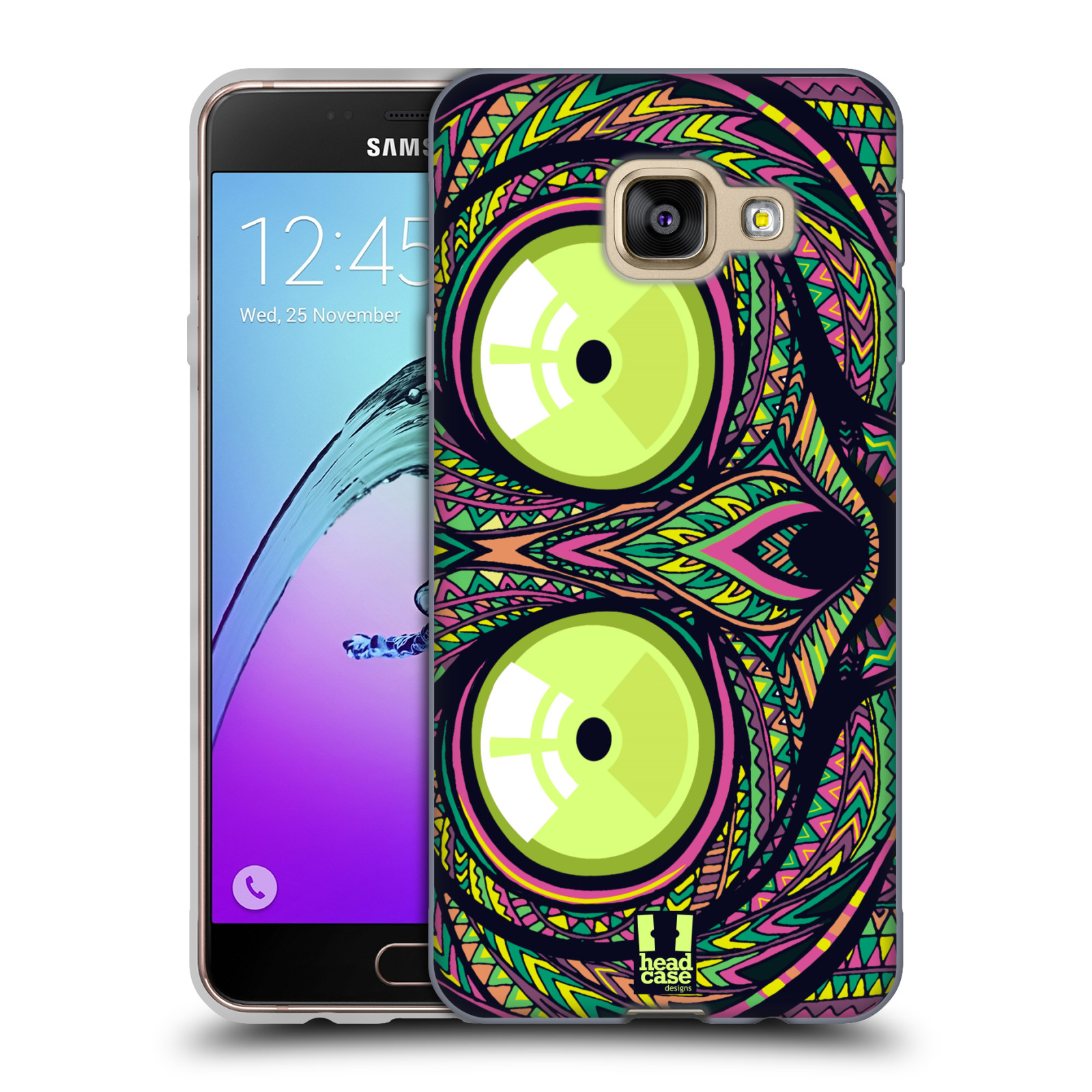 Silikonové pouzdro na mobil Samsung Galaxy A3 (2016) HEAD CASE AZTEC NÁRTOUN