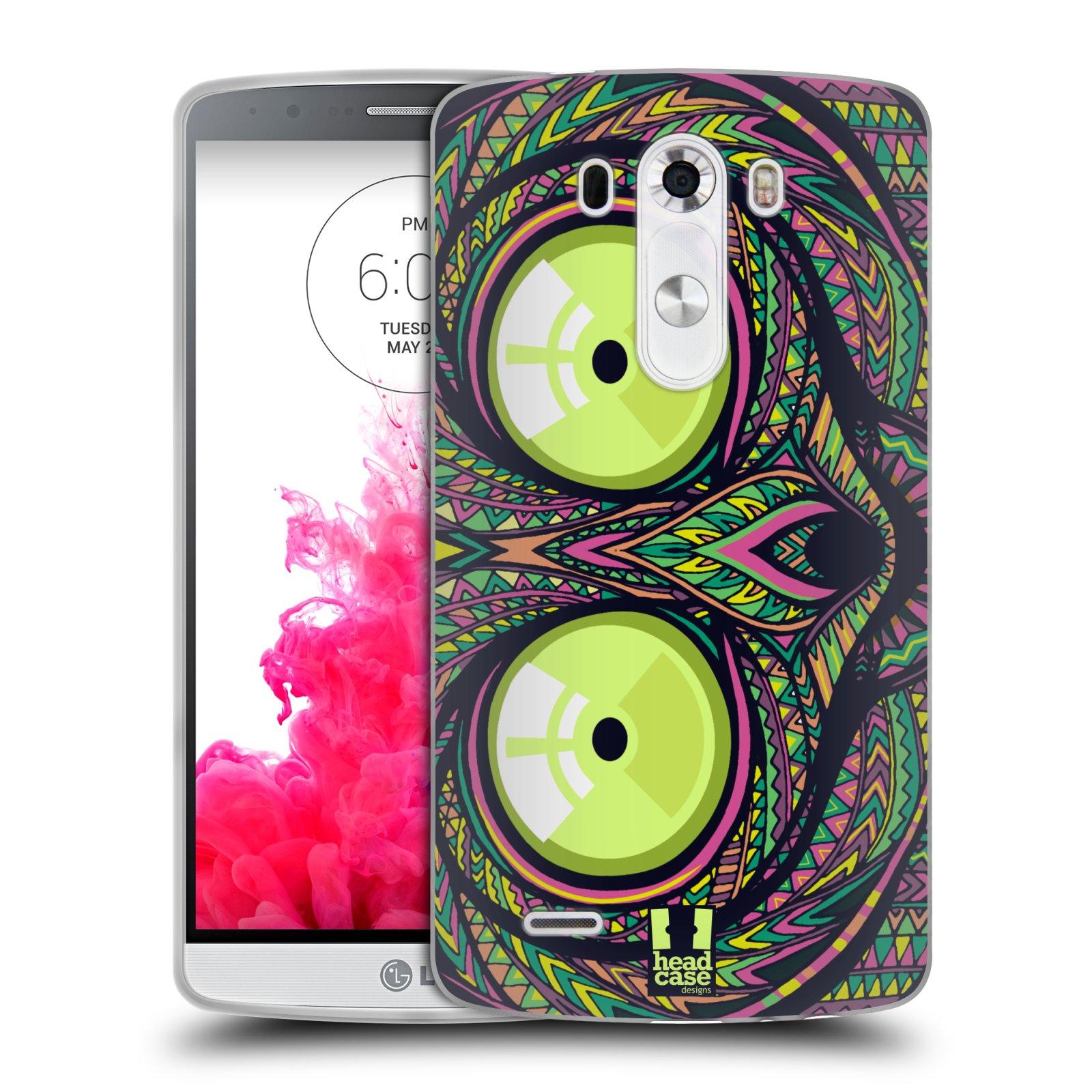 Silikonové pouzdro na mobil LG G3 HEAD CASE AZTEC NÁRTOUN (Silikonový kryt či obal na mobilní telefon LG G3 D855)