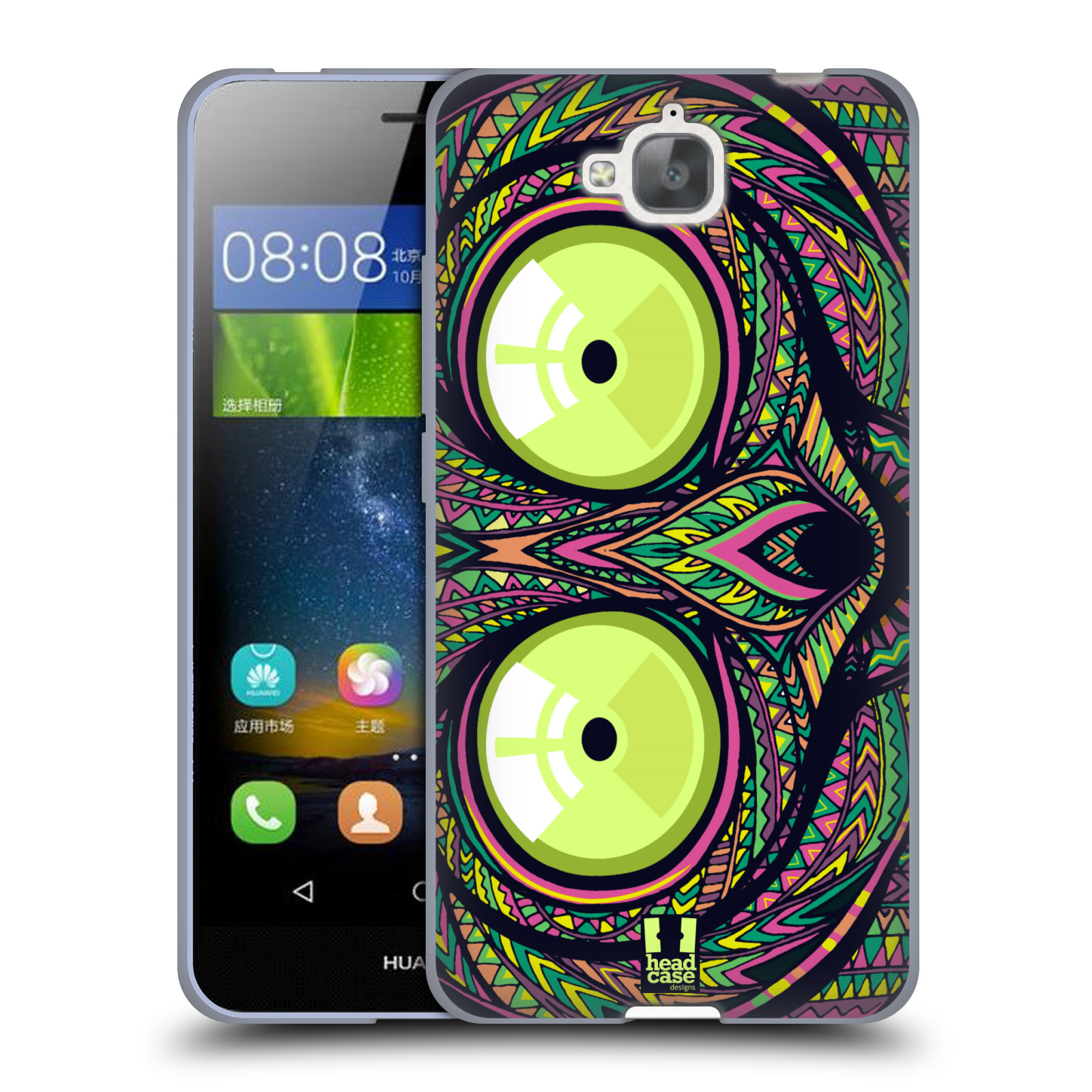 Silikonové pouzdro na mobil Huawei Y6 Pro Dual Sim HEAD CASE AZTEC NÁRTOUN