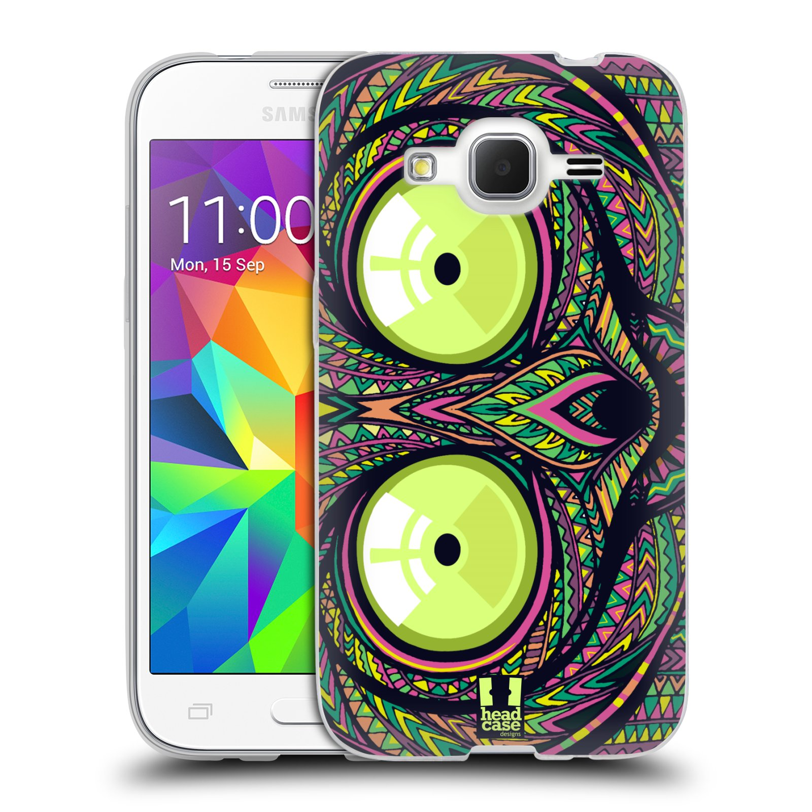 Silikonové pouzdro na mobil Samsung Galaxy Core Prime LTE HEAD CASE AZTEC NÁRTOUN