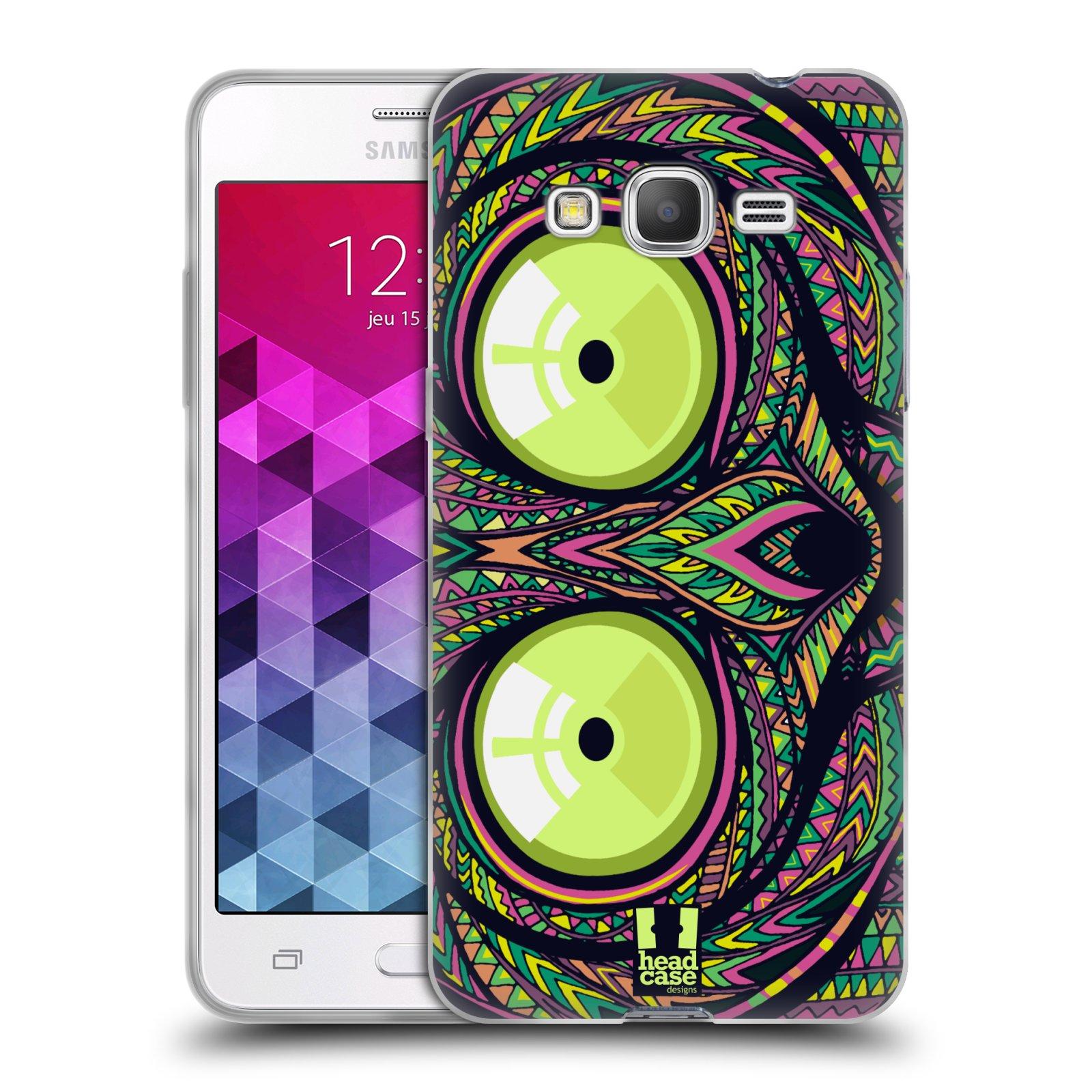 Silikonové pouzdro na mobil Samsung Galaxy Grand Prime VE HEAD CASE AZTEC NÁRTOUN