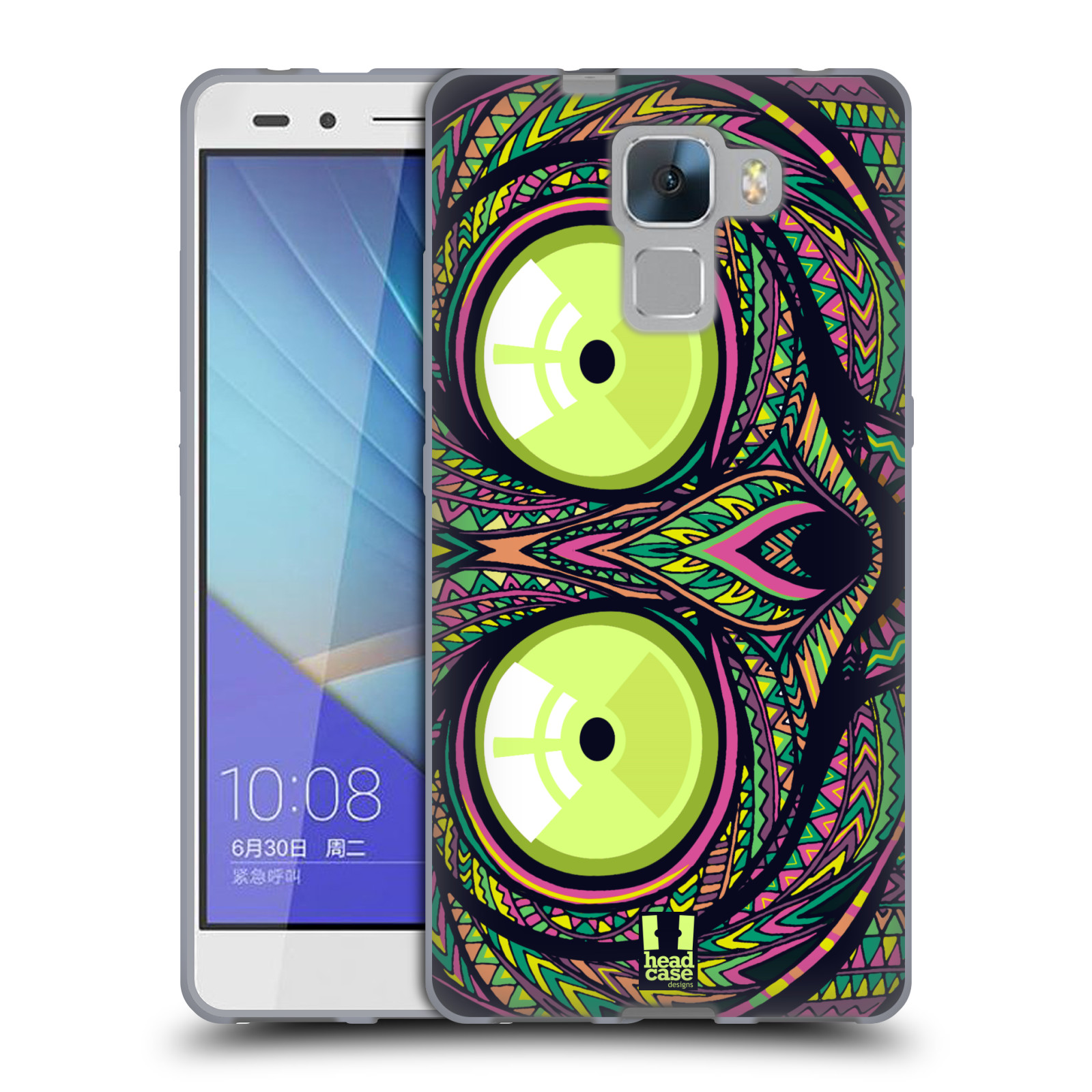 Silikonové pouzdro na mobil Honor 7 HEAD CASE AZTEC NÁRTOUN