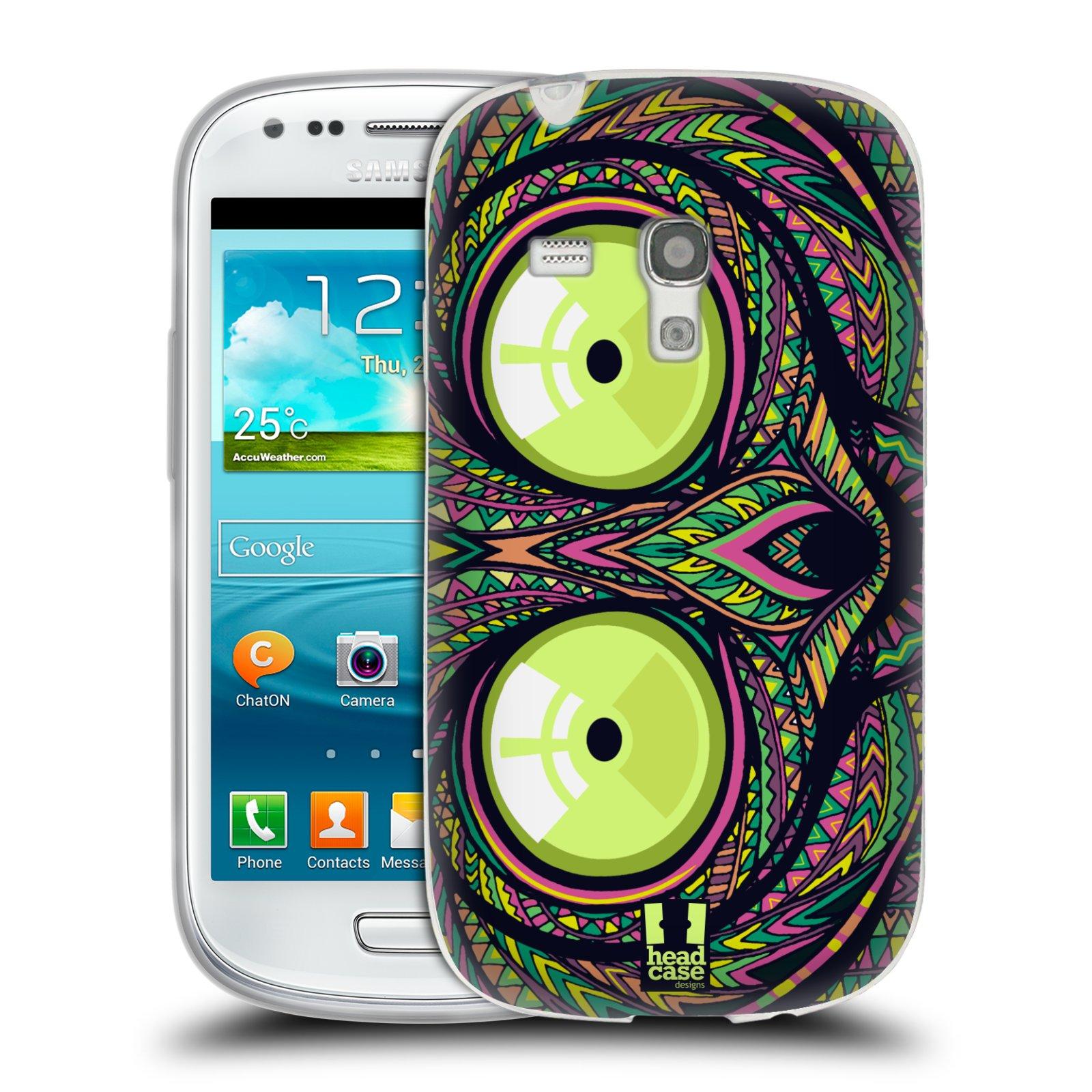 Silikonové pouzdro na mobil Samsung Galaxy S III Mini HEAD CASE AZTEC NÁRTOUN (Silikonový kryt či obal na mobilní telefon Samsung Galaxy S III Mini GT-i8190)