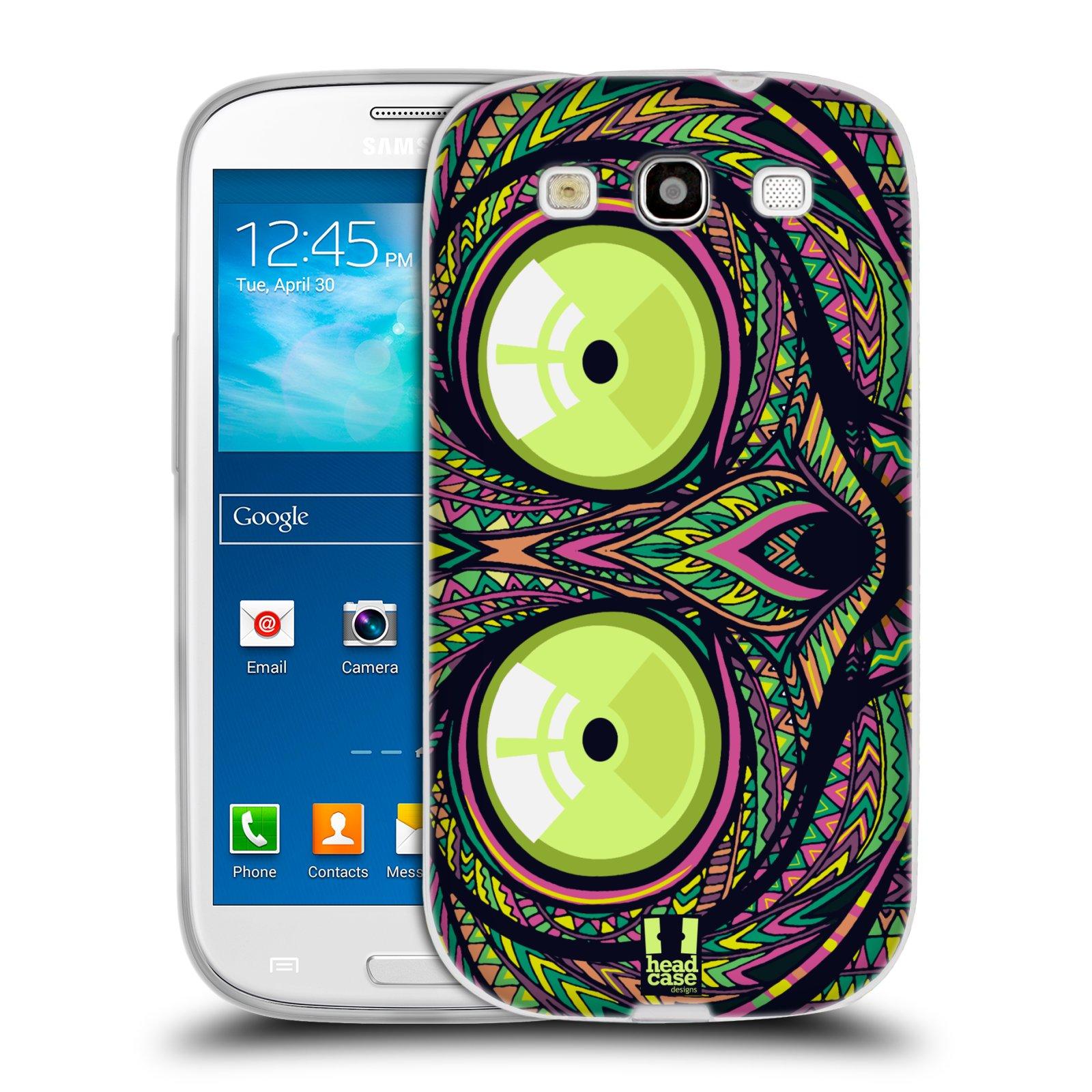 Silikonové pouzdro na mobil Samsung Galaxy S3 Neo HEAD CASE AZTEC NÁRTOUN (Silikonový kryt či obal na mobilní telefon Samsung Galaxy S3 Neo GT-i9301i)