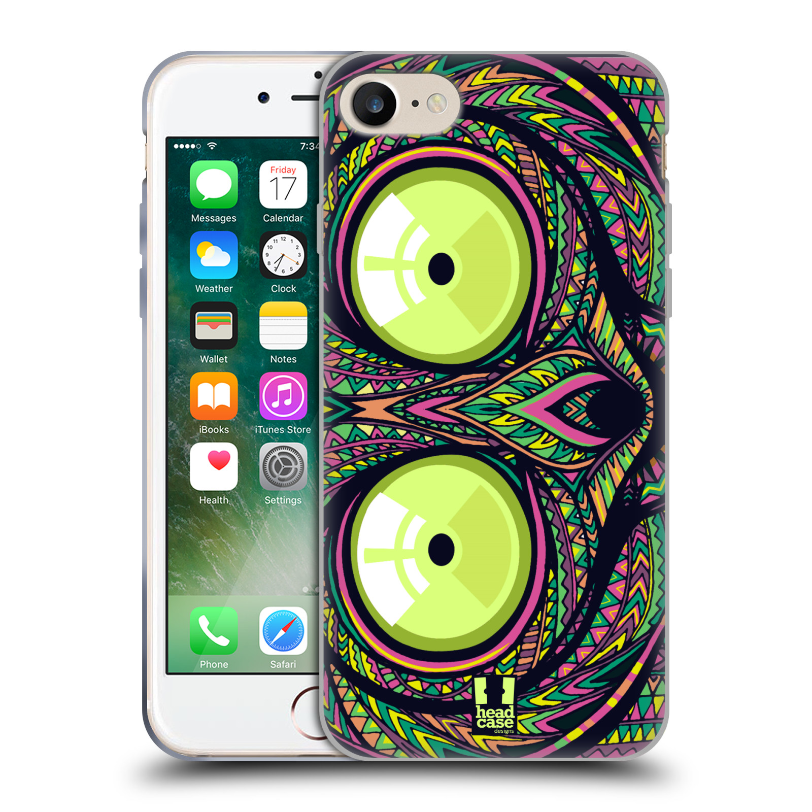 Silikonové pouzdro na mobil Apple iPhone 8 - Head Case - AZTEC NÁRTOUN