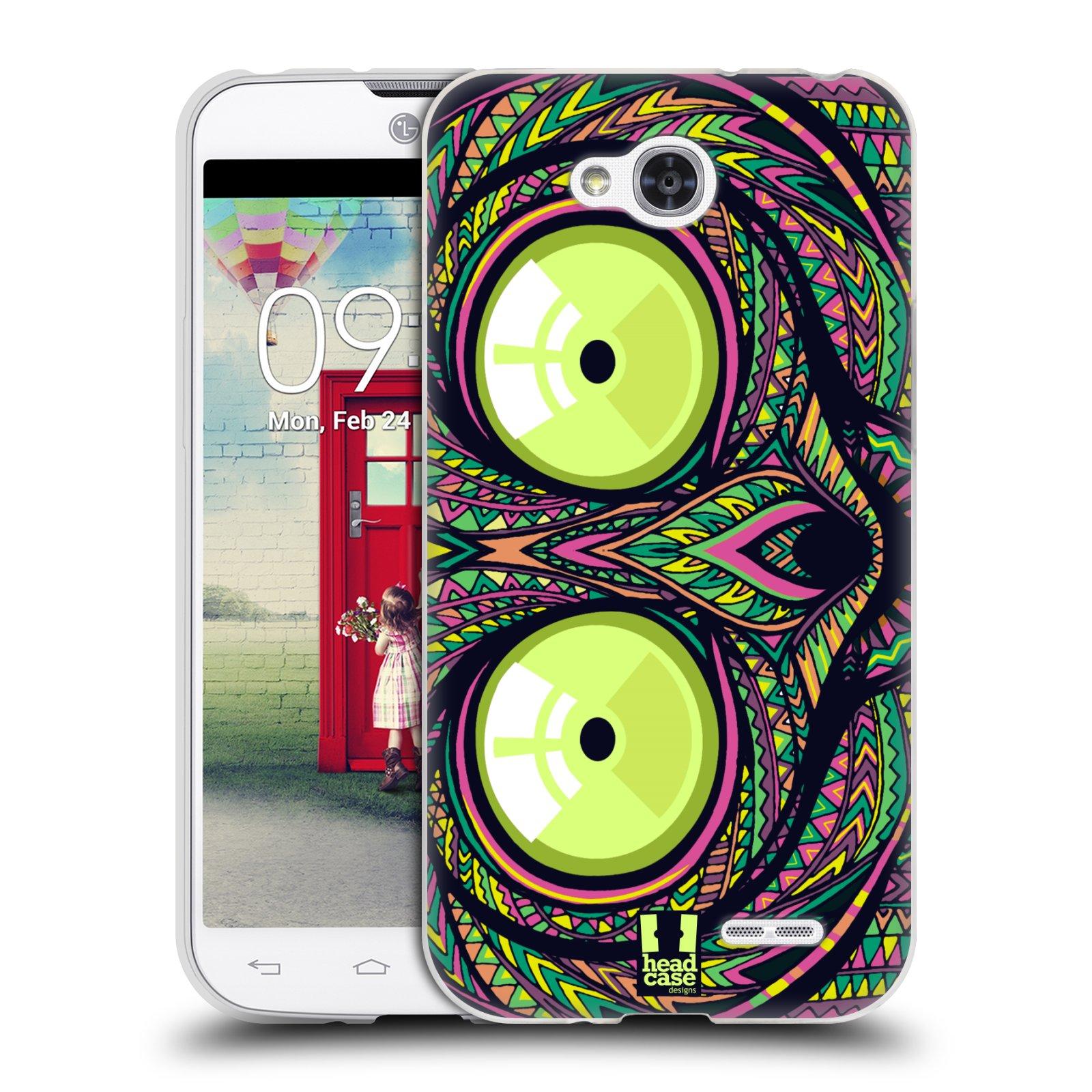 Silikonové pouzdro na mobil LG L90 HEAD CASE AZTEC NÁRTOUN (Silikonový kryt či obal na mobilní telefon LG L90 D405n)