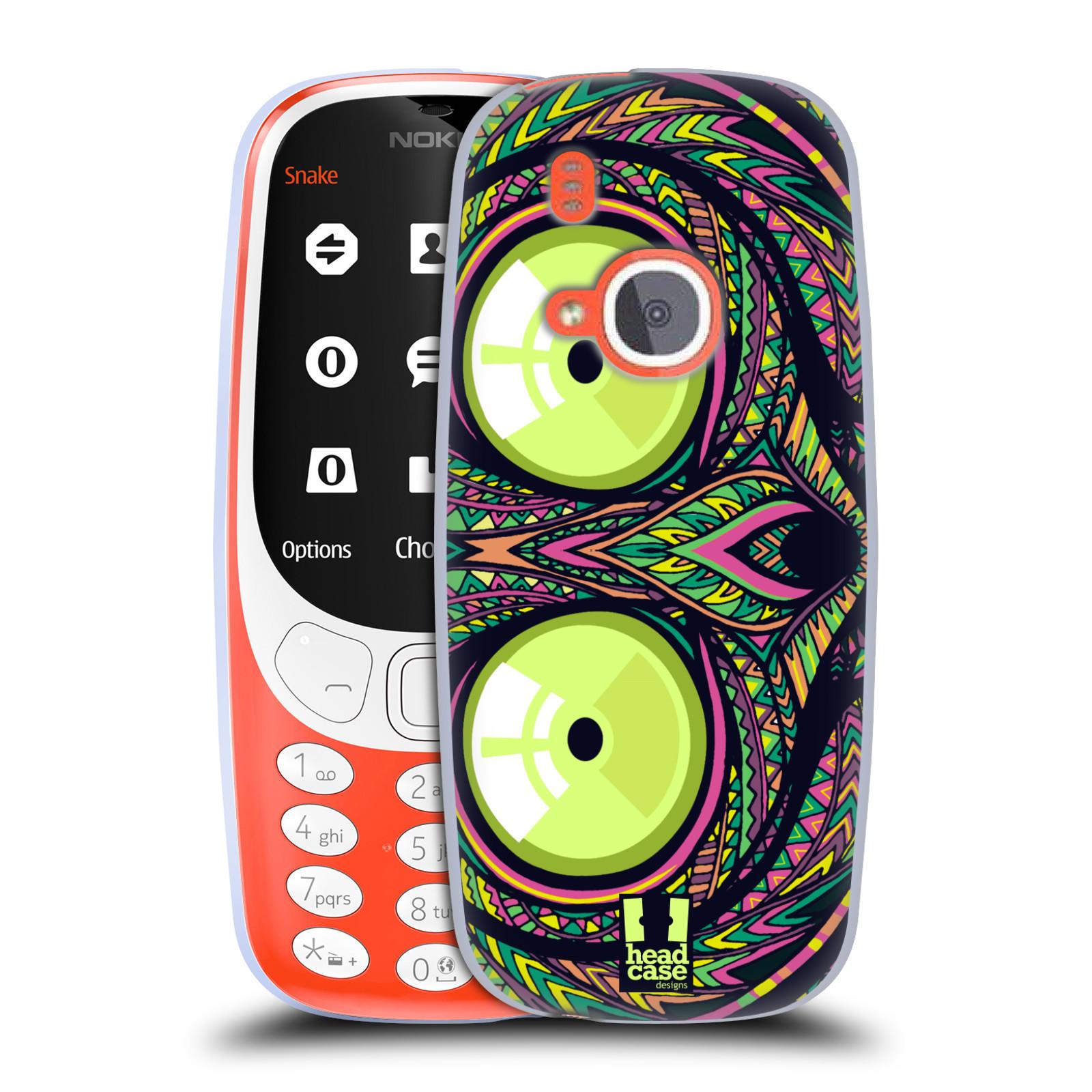 Silikonové pouzdro na mobil Nokia 3310 - Head Case - AZTEC NÁRTOUN
