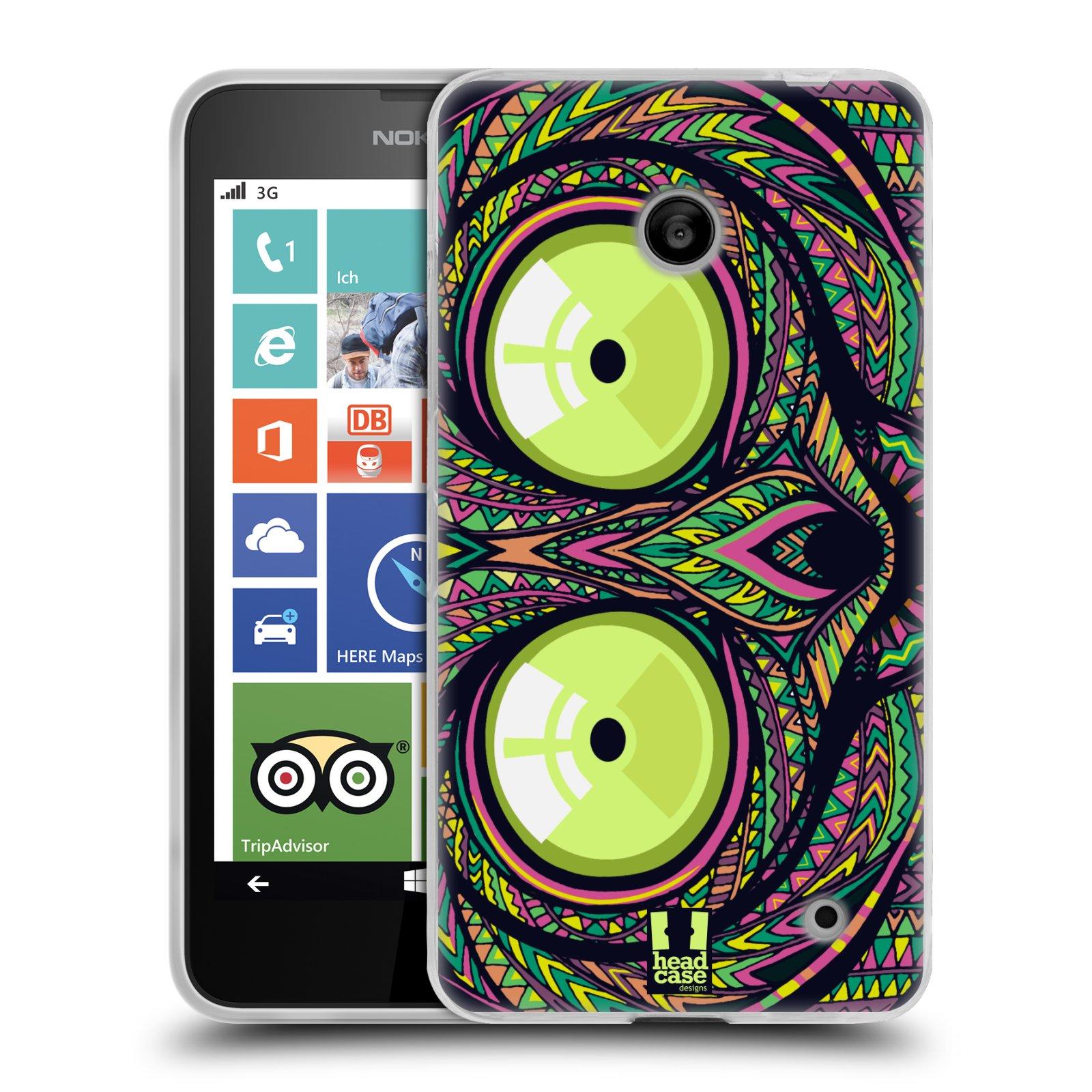 Silikonové pouzdro na mobil Nokia Lumia 630 HEAD CASE AZTEC NÁRTOUN (Silikonový kryt či obal na mobilní telefon Nokia Lumia 630 a Nokia Lumia 630 Dual SIM)