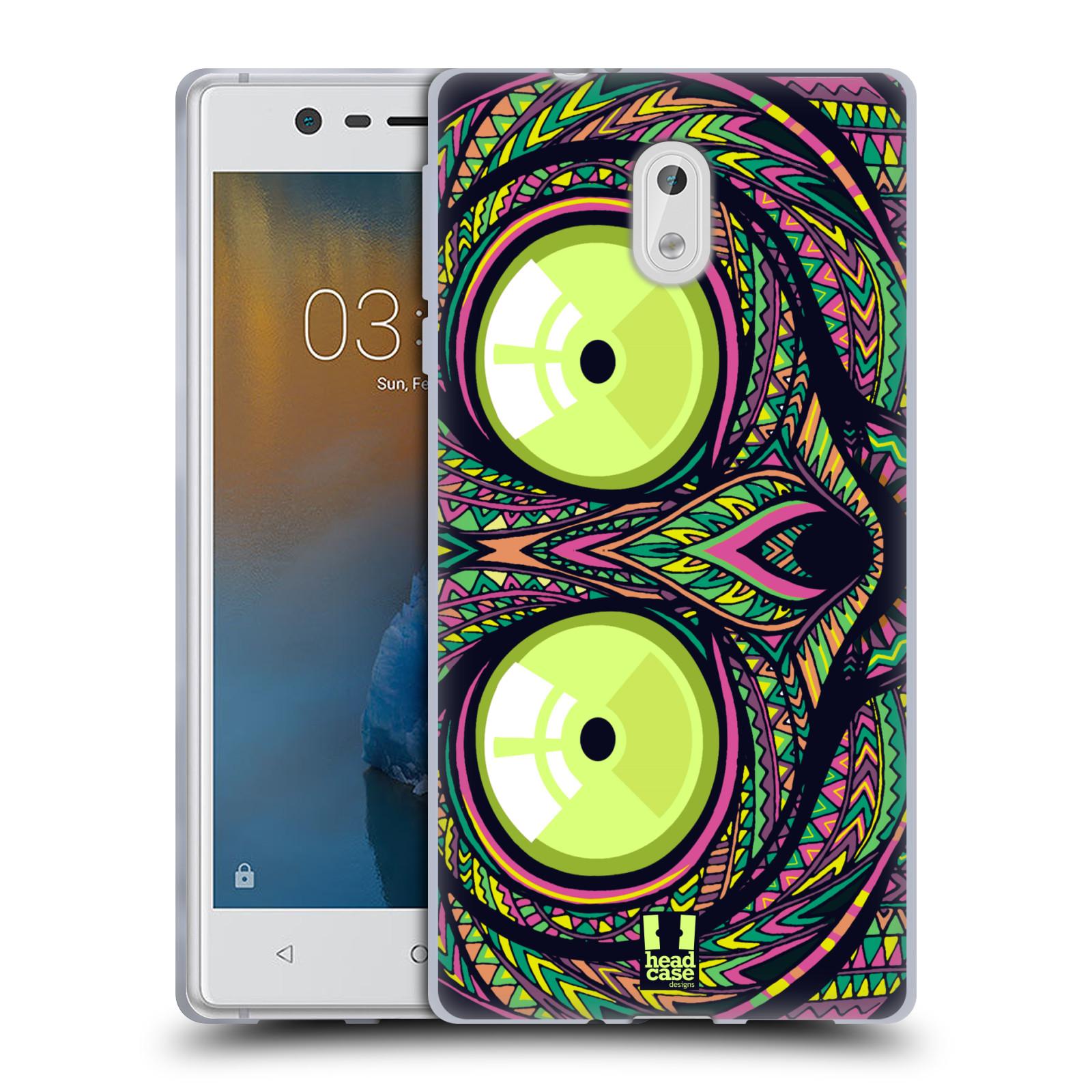 Silikonové pouzdro na mobil Nokia 3 Head Case - AZTEC NÁRTOUN