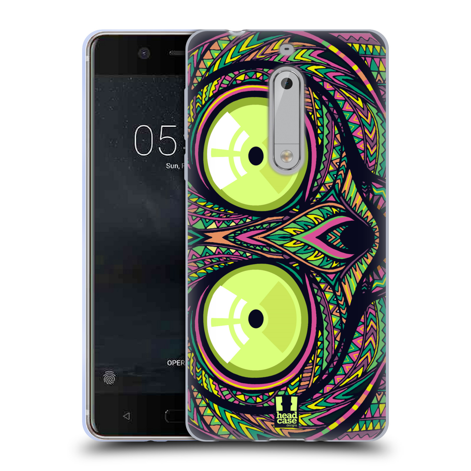 Silikonové pouzdro na mobil Nokia 5 Head Case - AZTEC NÁRTOUN
