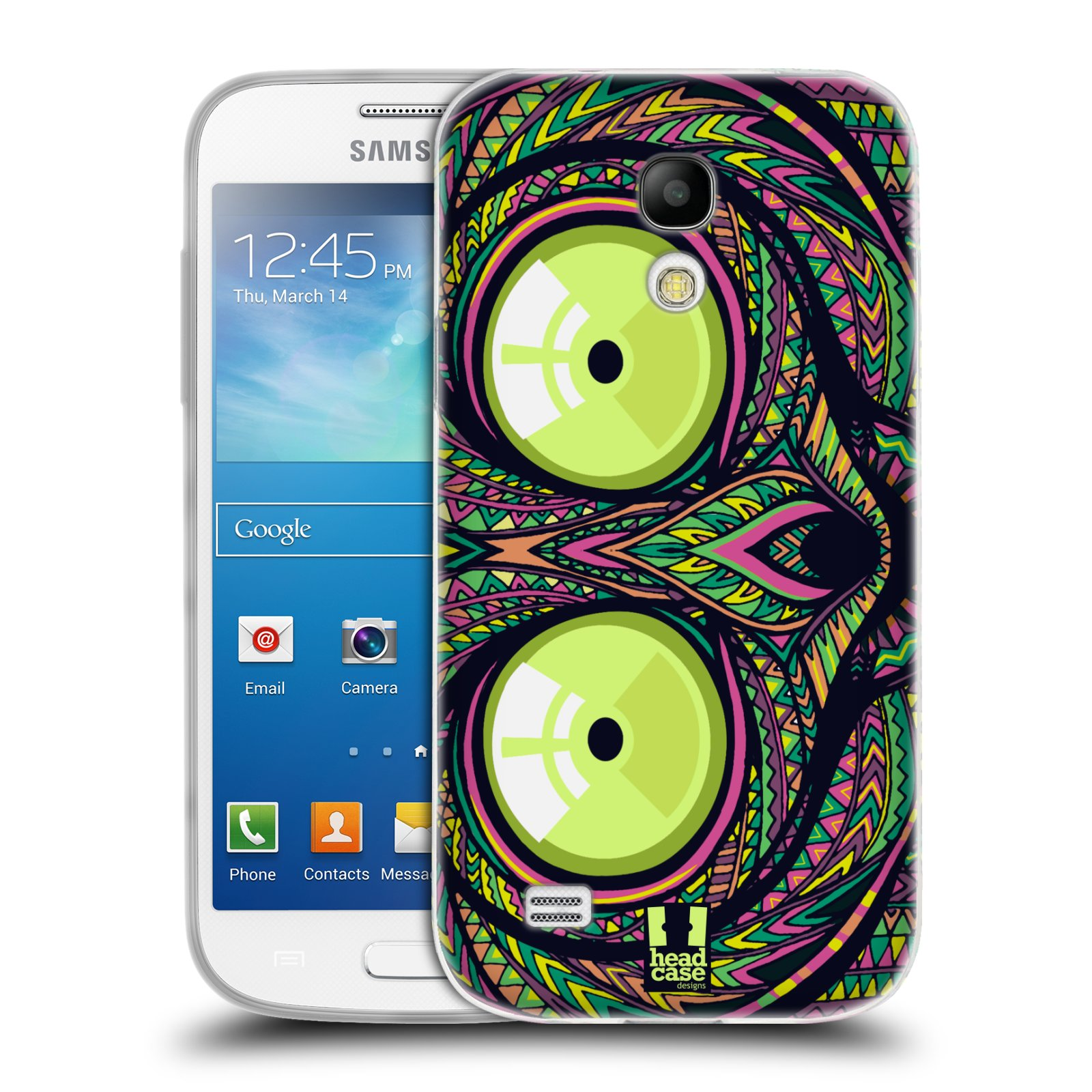 Silikonové pouzdro na mobil Samsung Galaxy S4 Mini HEAD CASE AZTEC NÁRTOUN