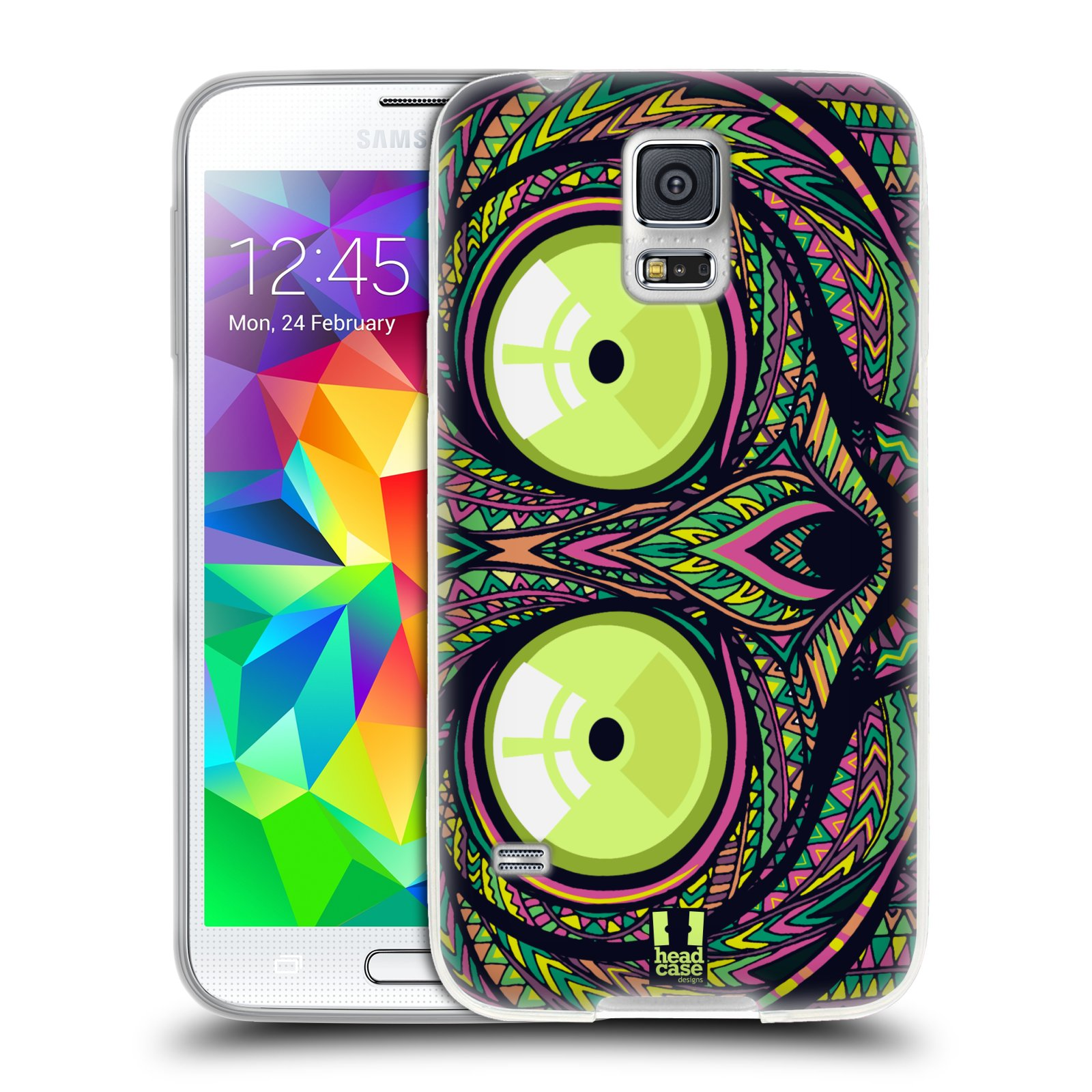 Silikonové pouzdro na mobil Samsung Galaxy S5 HEAD CASE AZTEC NÁRTOUN