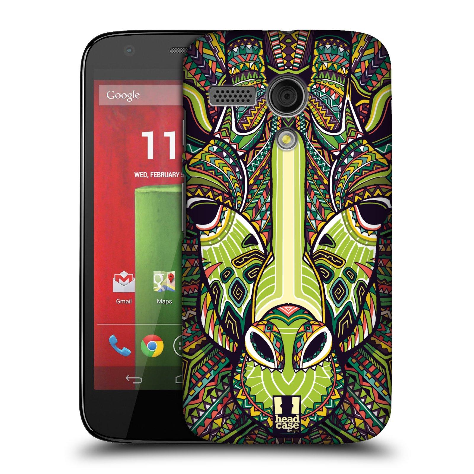 Plastové pouzdro na mobil Motorola Moto G HEAD CASE AZTEC ŽIRAFA (Kryt či obal na mobilní telefon Motorola Moto G)