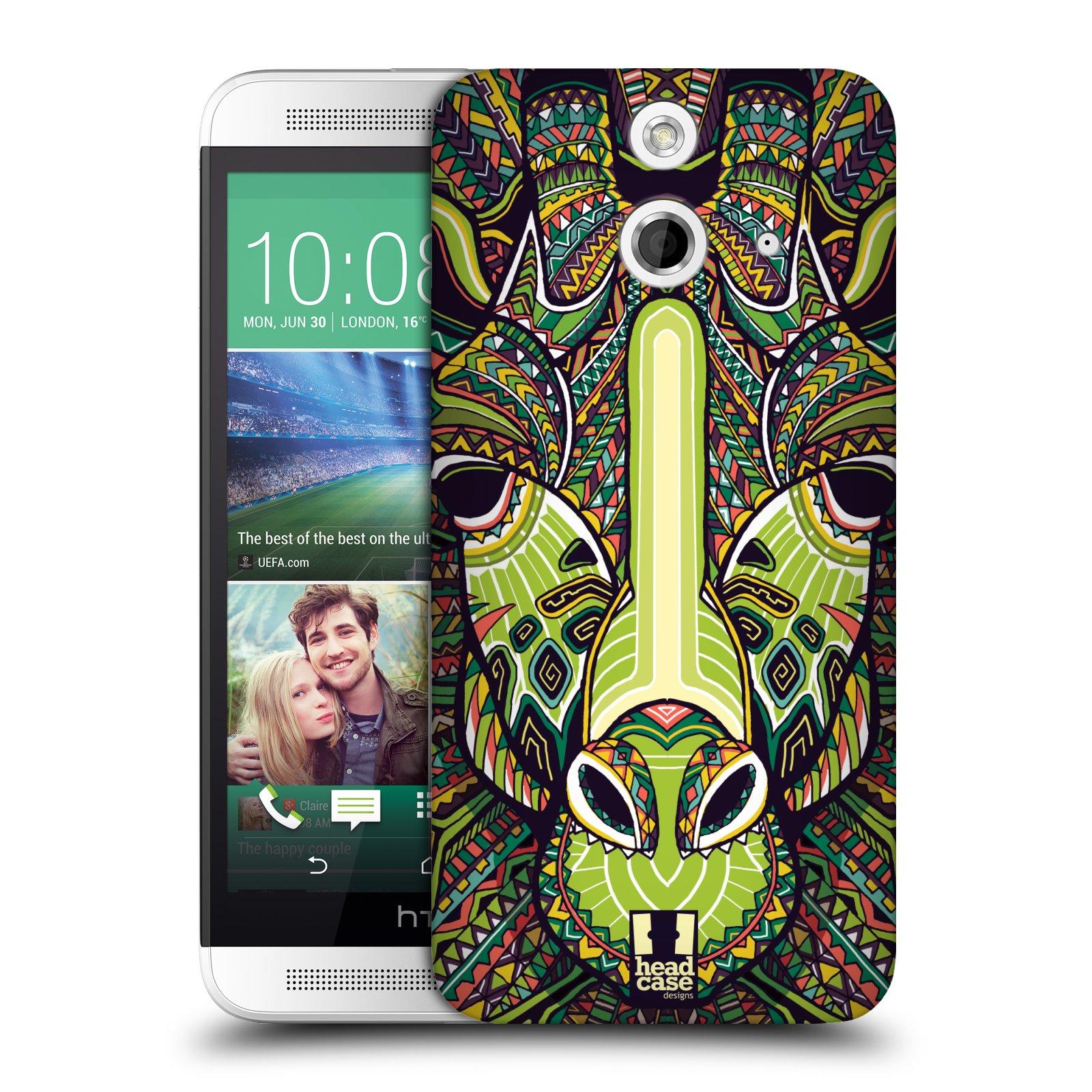 Plastové pouzdro na mobil HTC ONE E8 HEAD CASE AZTEC ŽIRAFA (Kryt či obal na mobilní telefon HTC ONE E8)