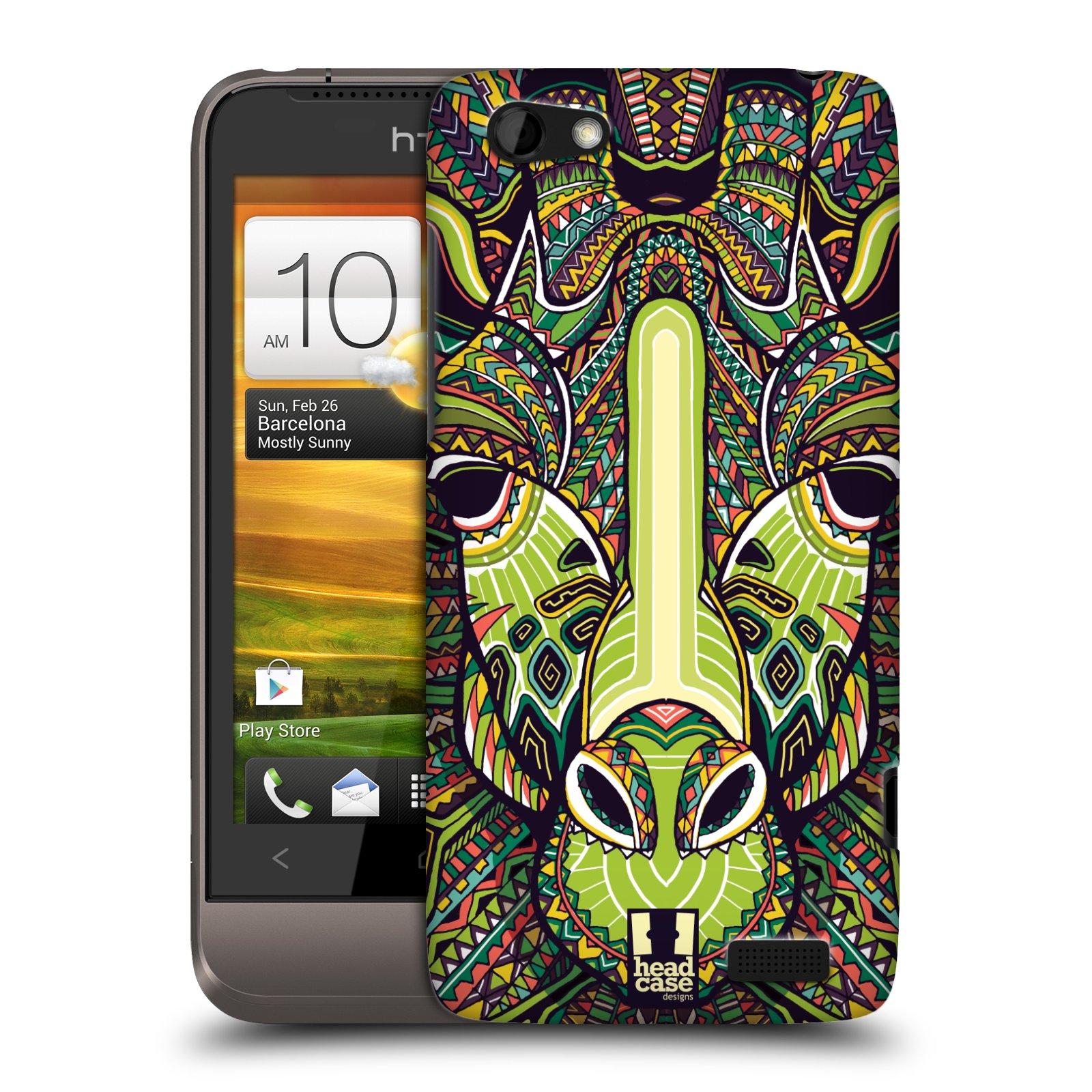 Plastové pouzdro na mobil HTC ONE V HEAD CASE AZTEC ŽIRAFA (Kryt či obal na mobilní telefon HTC ONE V)