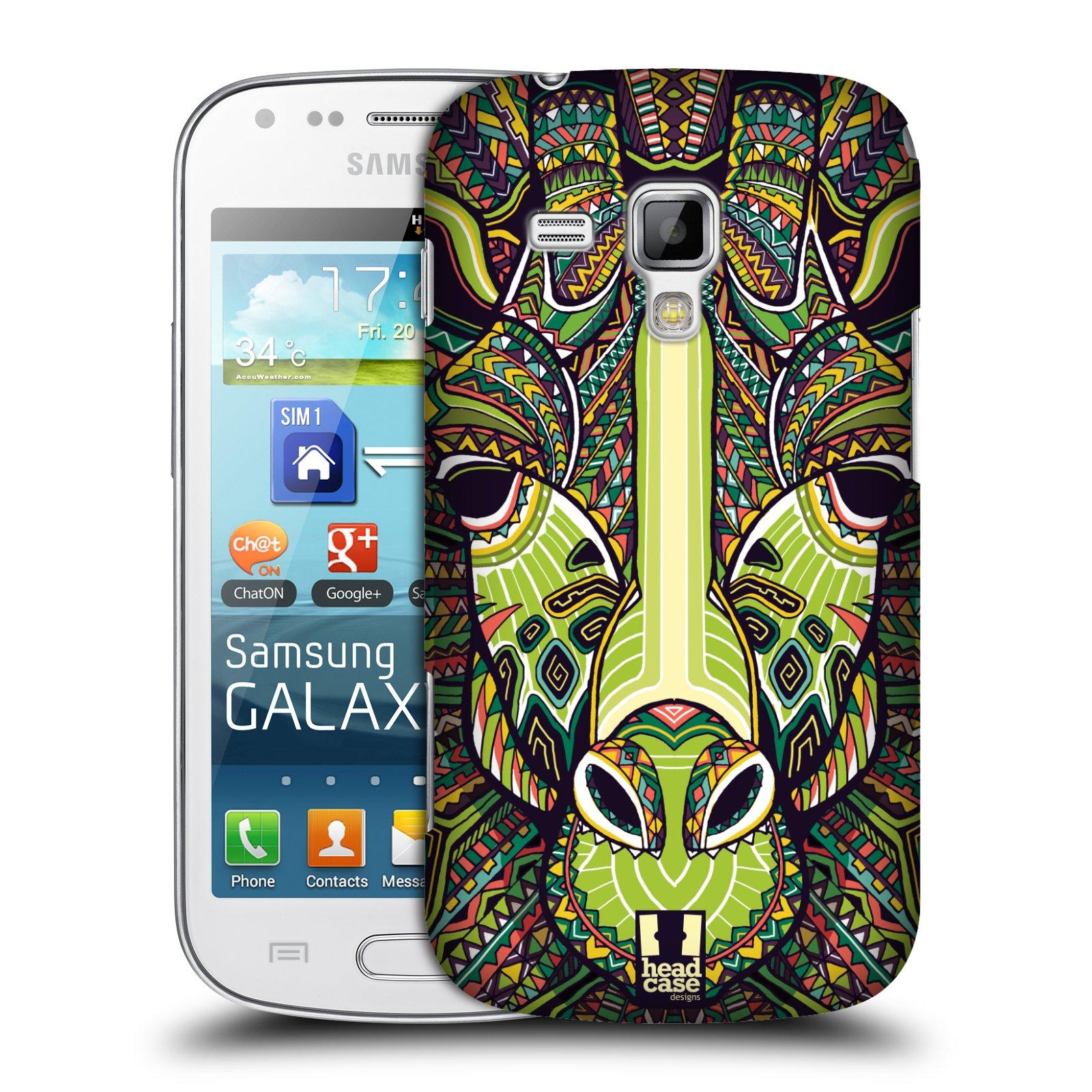Plastové pouzdro na mobil Samsung Galaxy S Duos 2 HEAD CASE AZTEC ŽIRAFA (Kryt či obal na mobilní telefon Samsung Galaxy S Duos 2 GT-S7582)